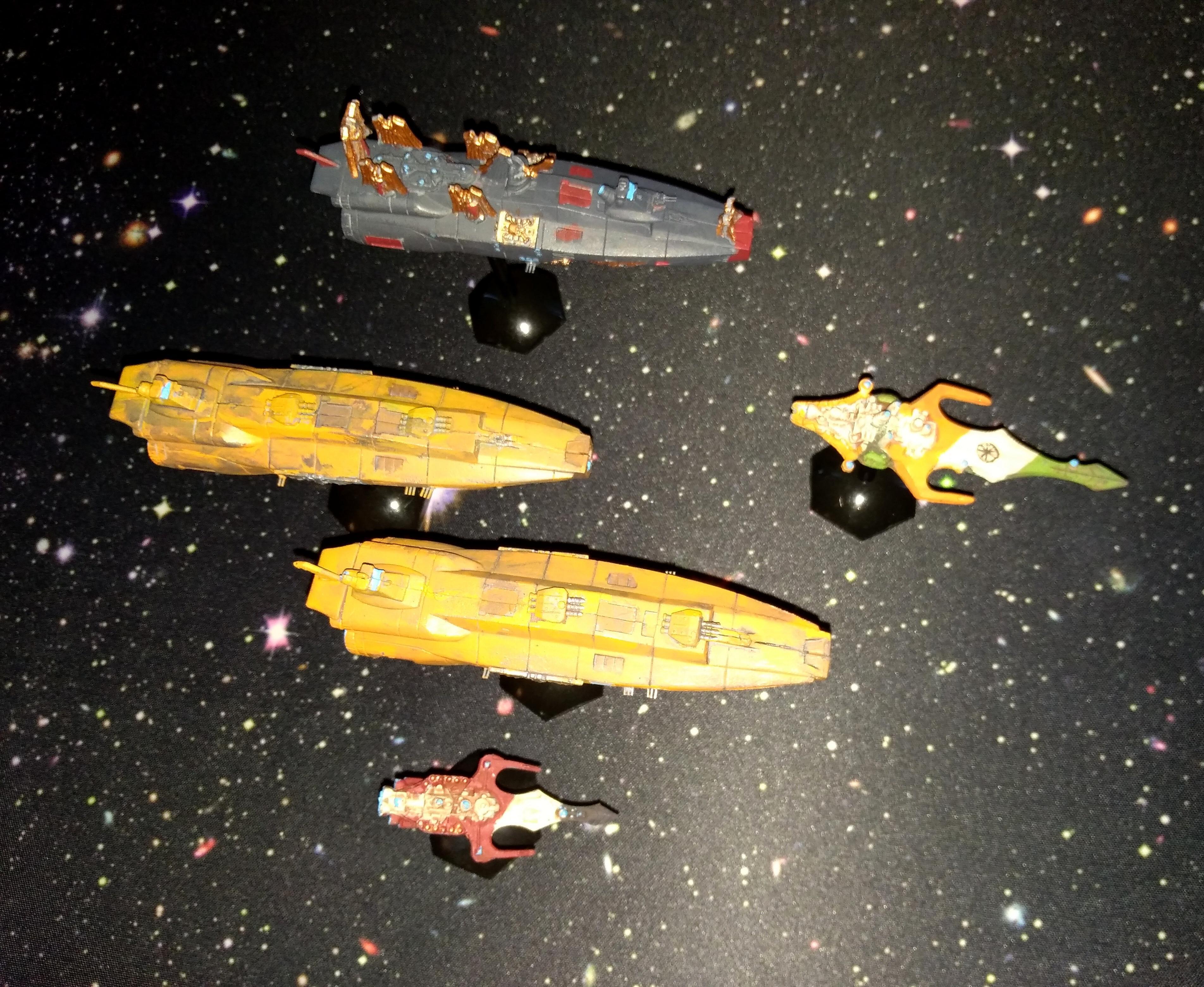 Bandai, Battlefleet Gothic, Mass Conveyor, Space Fleet, Yamato