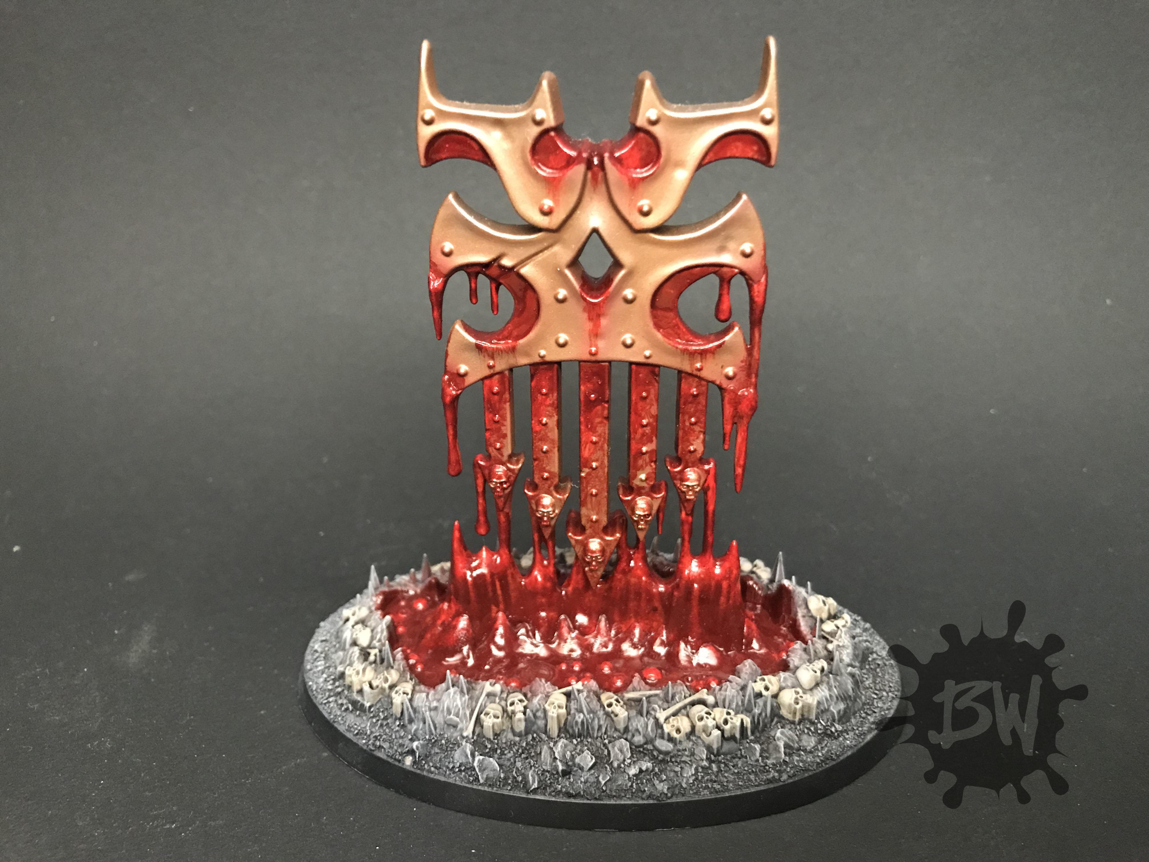 Age Of Sigmar, Bleeding Icon, Bw, Chaos, Hexgorger Skulls, Judgements Of Khorne, Khorne, Warhammer Fantasy, Wrath-axe