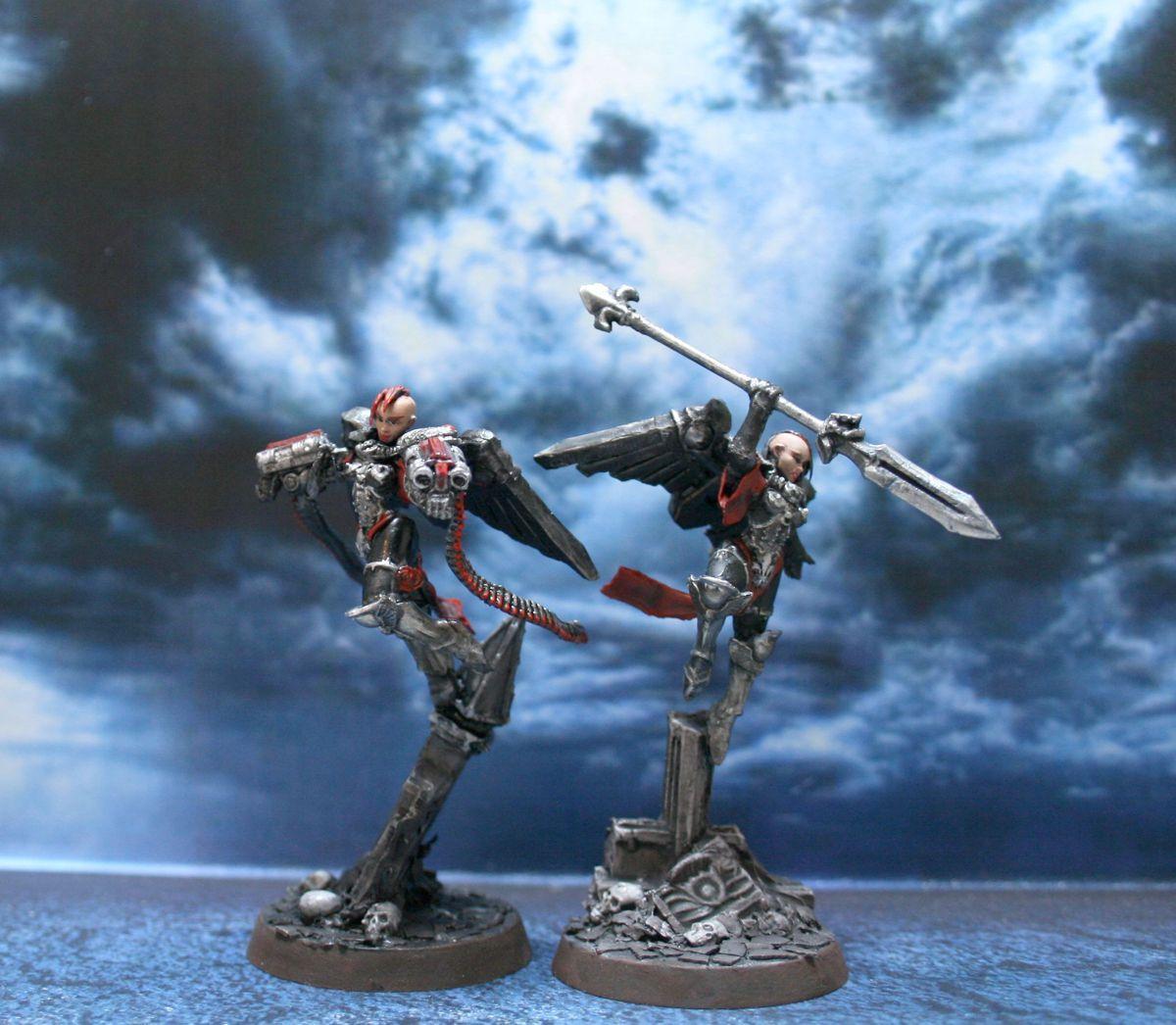 Adepta Sororitas, Scratch Build, Seraphim, Sisters Of Battle