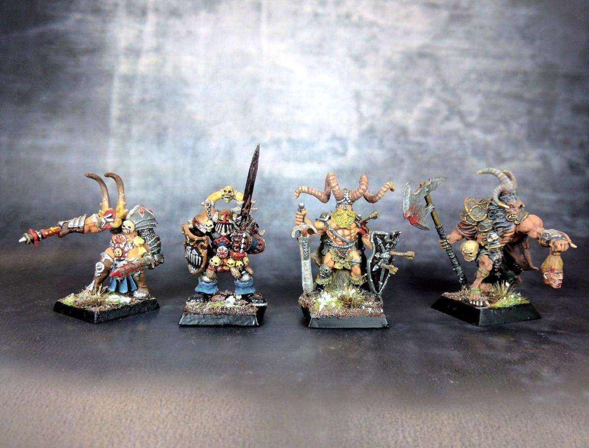 Beastmen, Champion, Chaos, Chaos Beastlord, Chaos Beastman, Chaos Exalted Hero, Chaos Lord, Chaos Marauder, Chieftain, Sorcerer