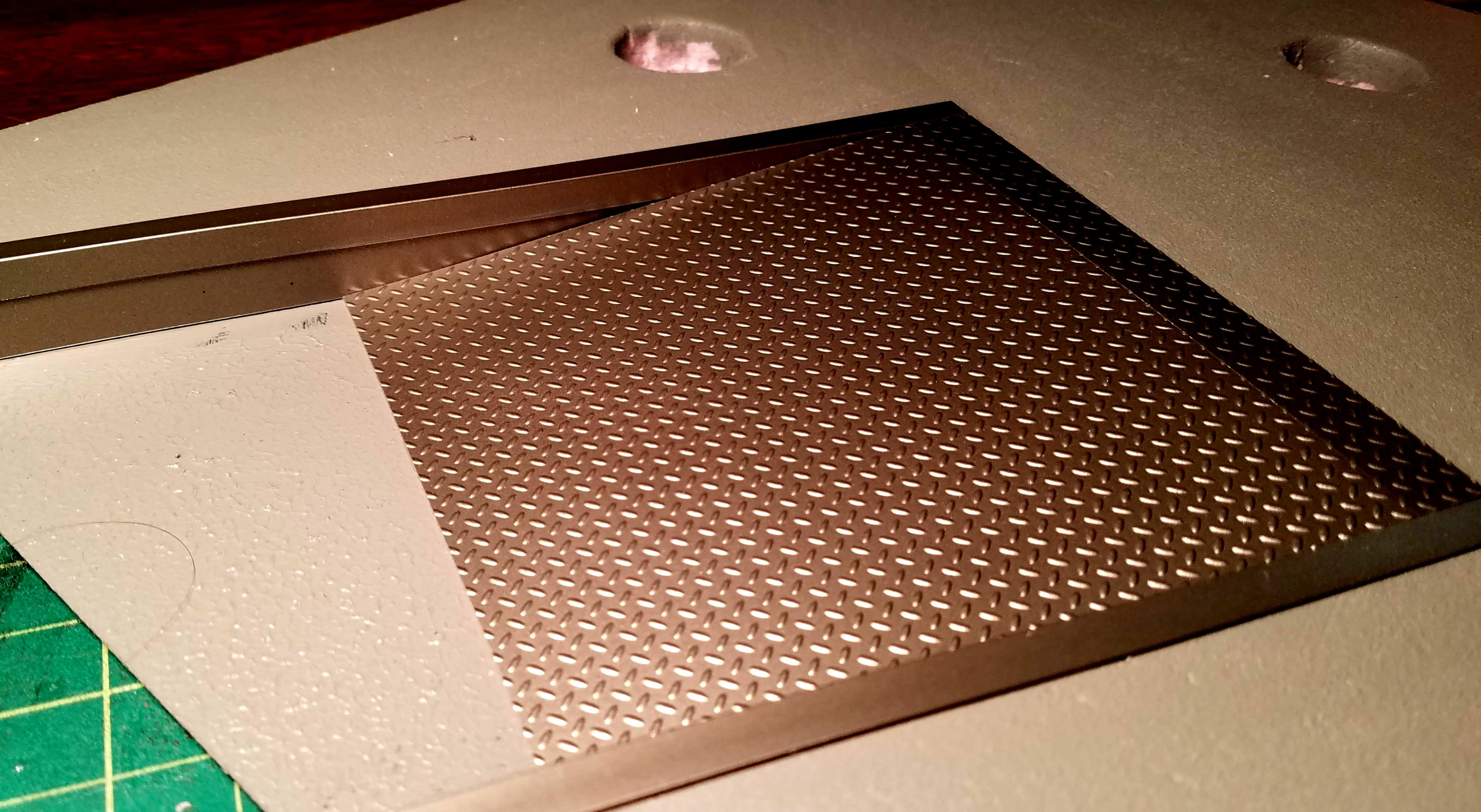 Ramp installled; very pleased with the diamond-plate styrene
