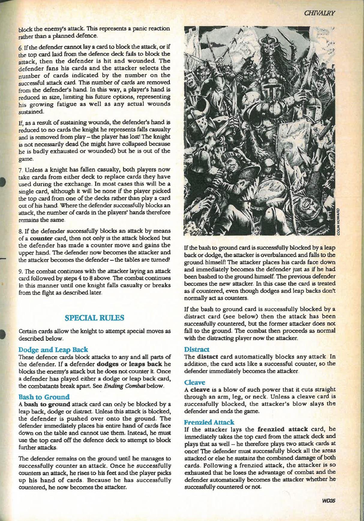 Chivalry, Copyright Games Workshop, Retro Review, Warhammer Fantasy, White Dwarf