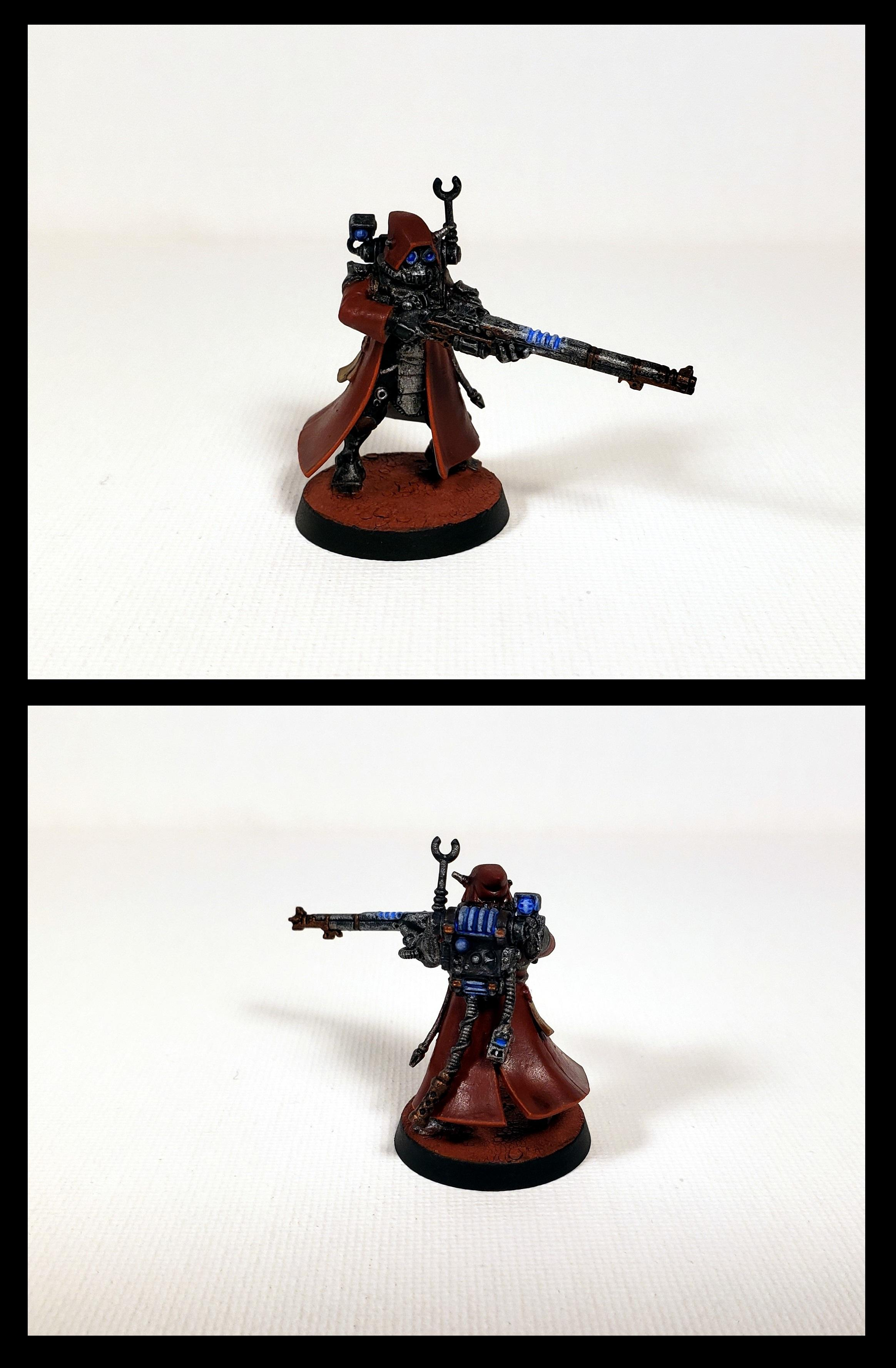 Admech, Skitarii, First Skitarius Painted and Based 00