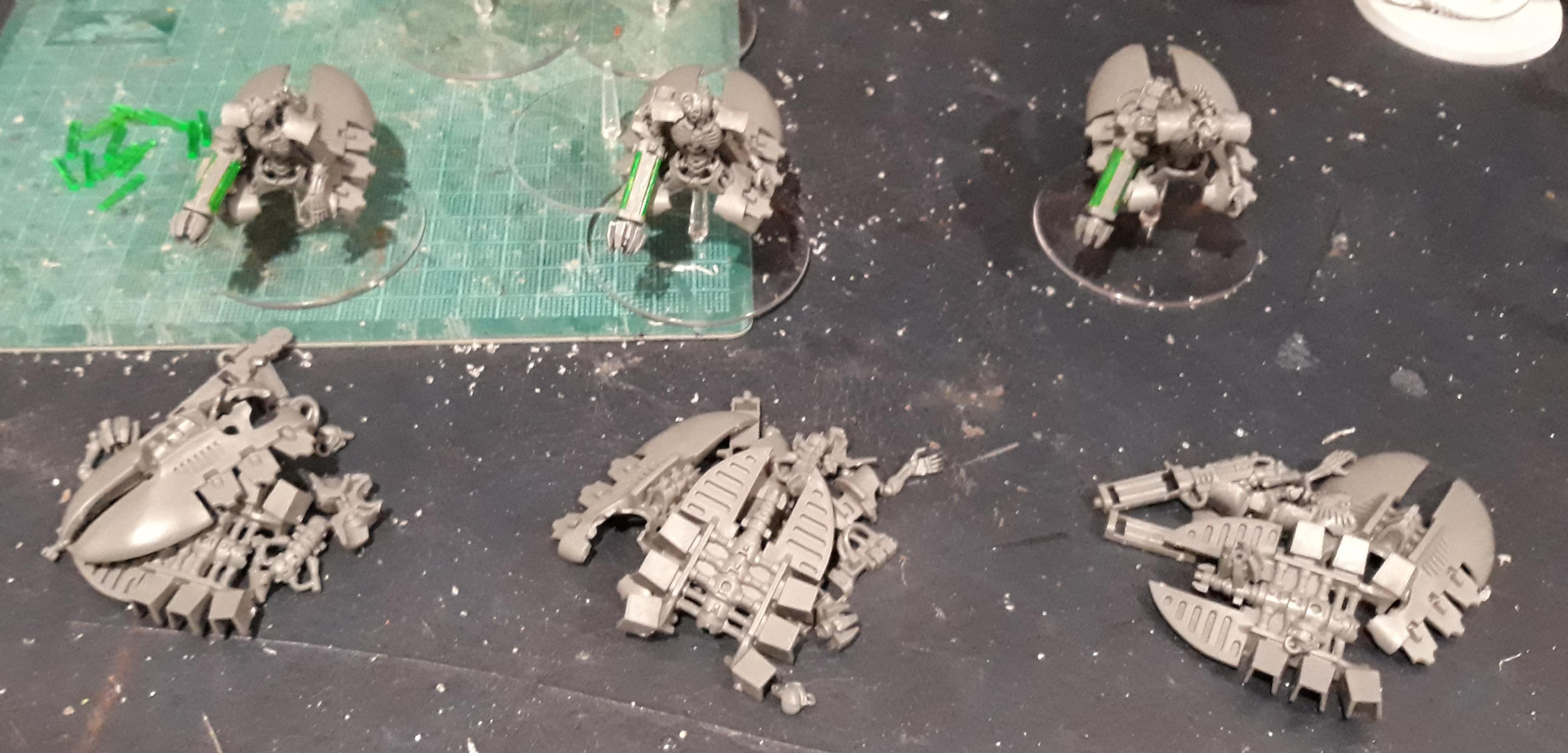 Destroyers half built