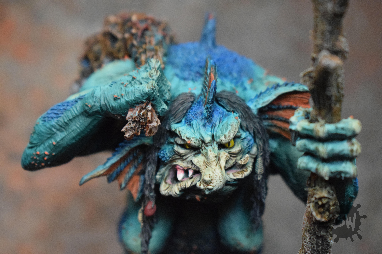 Age Of Sigmar, Bw, Destruction, Gloomspite Gitz, Troggoth, Troggoth Hag, Warhammer Fantasy