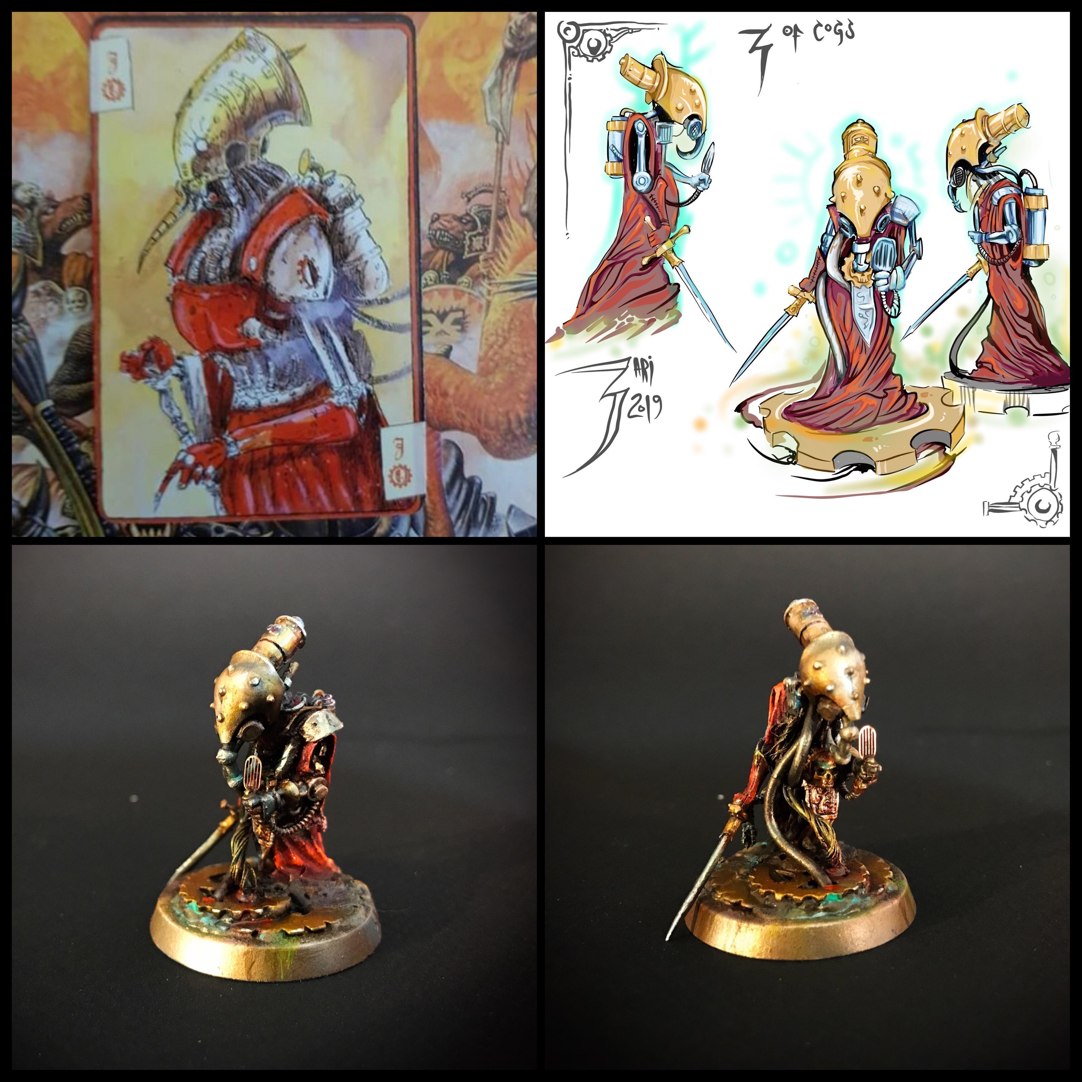 Admech, Airbrushed, Cogs, Grim Dark Cards, Grimdark, Horus Heresy, Kitbash, Limited Edition, Microphone, Non-Metallic Metal, Sword, Warhammer 40,000