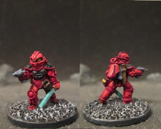 Laserburn Imperial Space Marine Officer