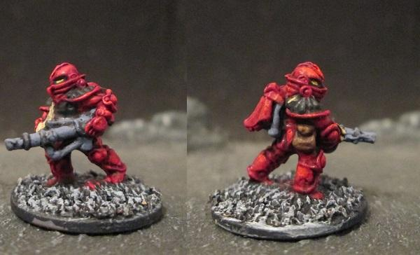 Laserburn Imperial Space Marine with Support Boltgun