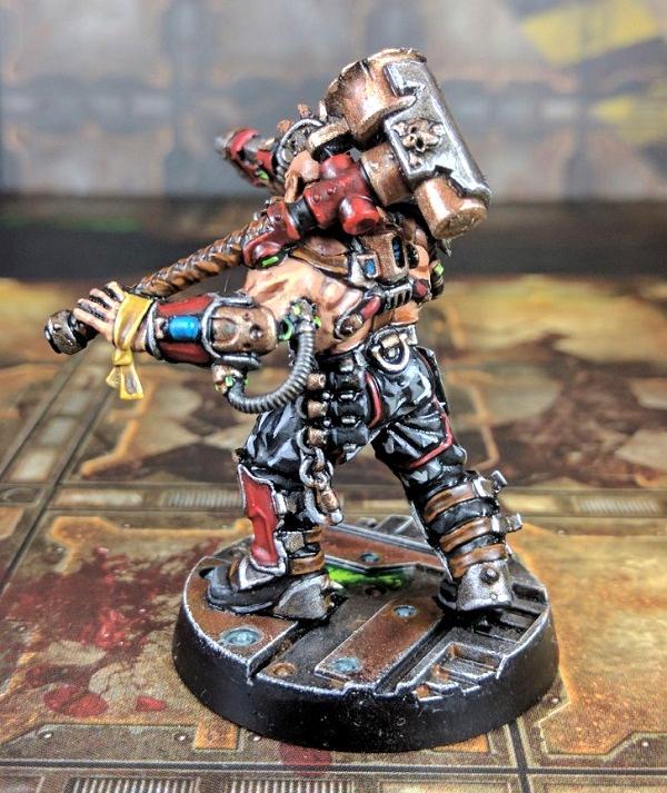 Ganger, House Goliath, Iron Lords, Leader, Necromunda, Skullshank, Underhive