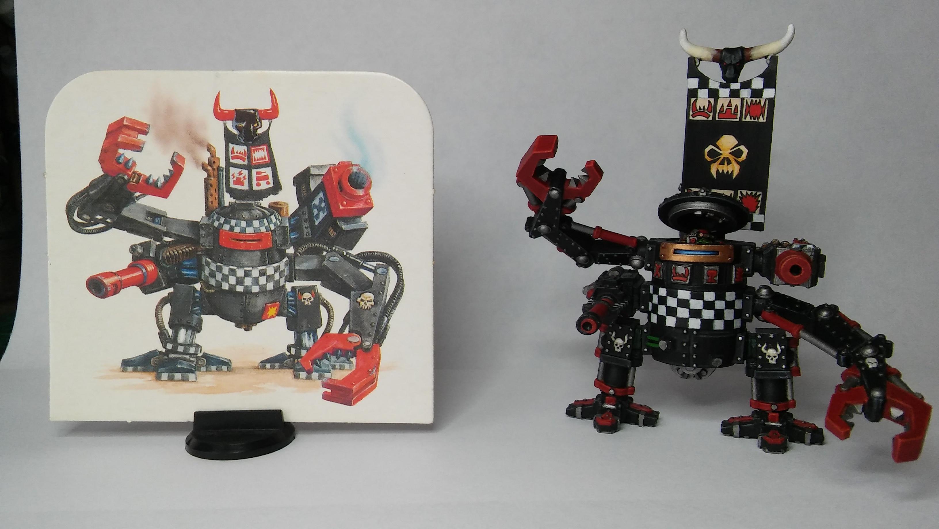 2nd Ed. Ork Dreadnought, Cardboard, Orks, Space Orks, Walker