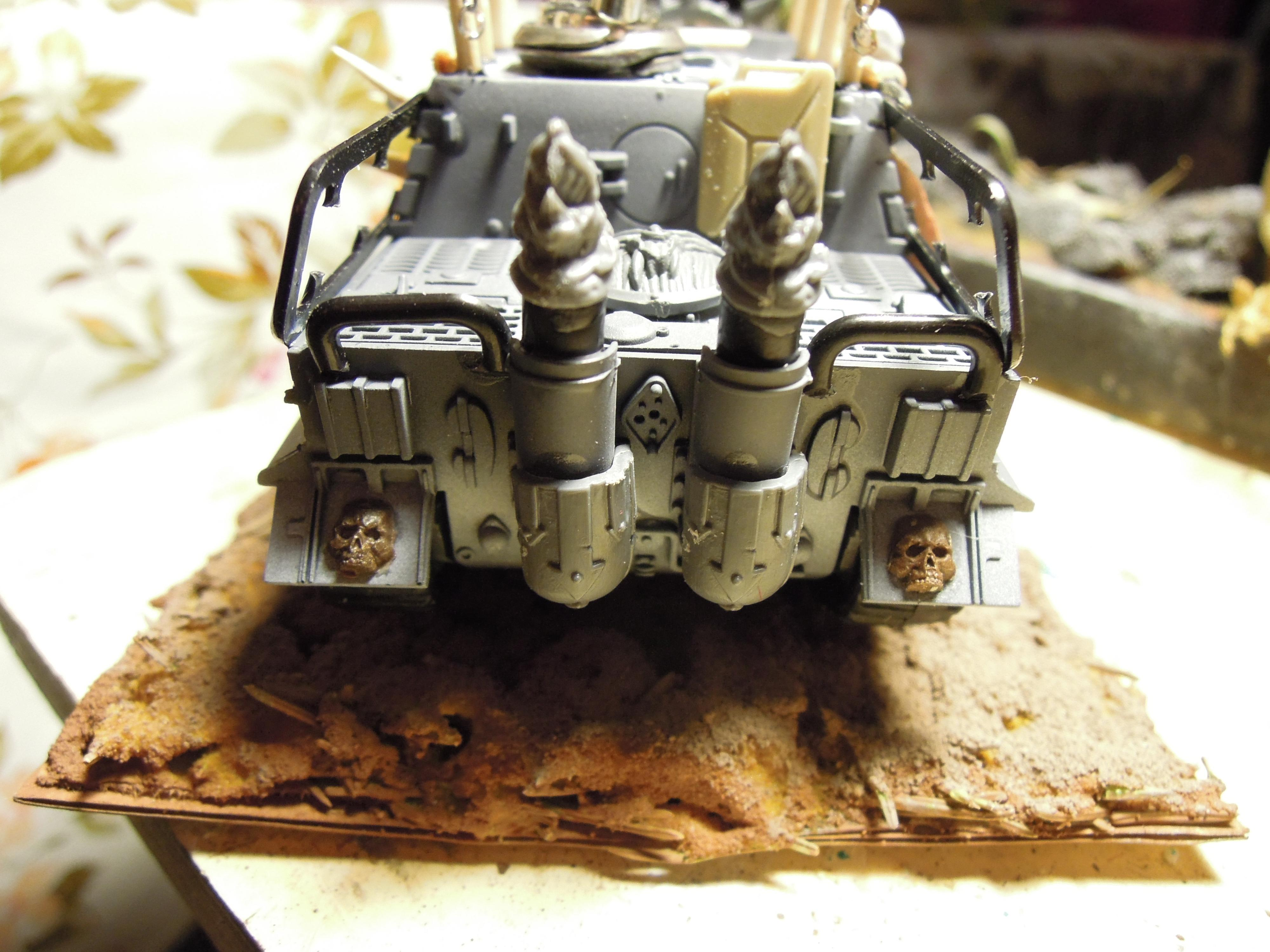 Armored Vehicle, Blood Pact, Chaos, Conversion, Heavy Support, Scratch Build, Sturmtiger, Tank, Warhammer 40,000, Work In Progress