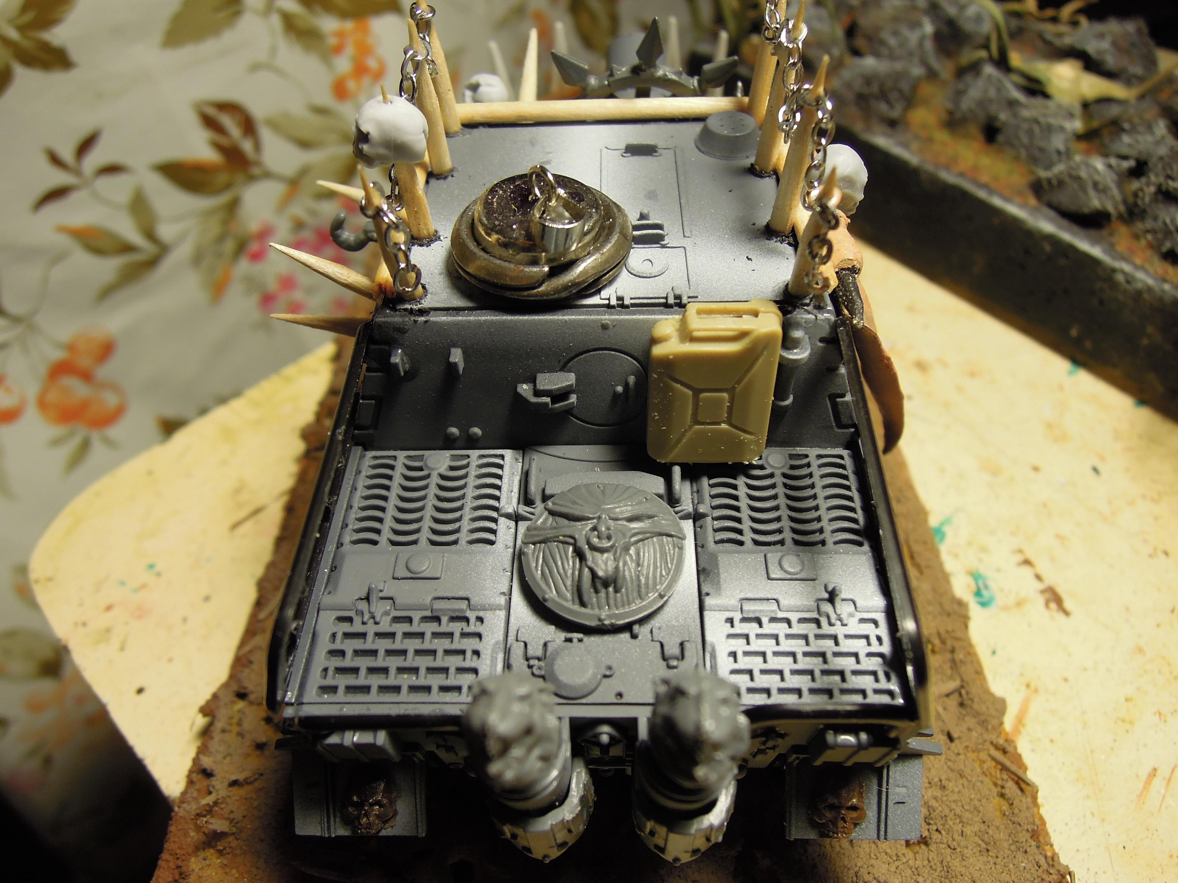 Armored Vehicle, Blood Pact, Chaos, Close Look, Conversion, Heavy Support, Scratch Build, Sturmtiger, Tank, Trophy, Warhammer 40,000, Work In Progress