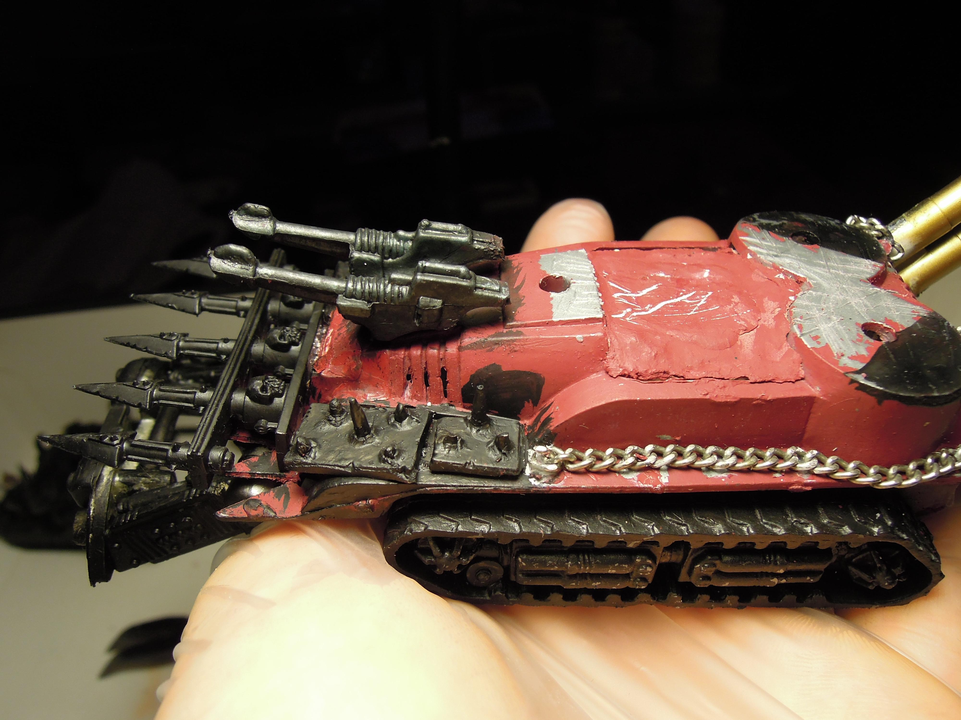 Armored Vehicle, Blood Pact, Chaos, Conversion, Daemon Engine, Dozer Blade, Heavy Support, Laser, Scratch Build, Tank, Technolog, Tehnolog, Warhammer 40,000, Work In Progress