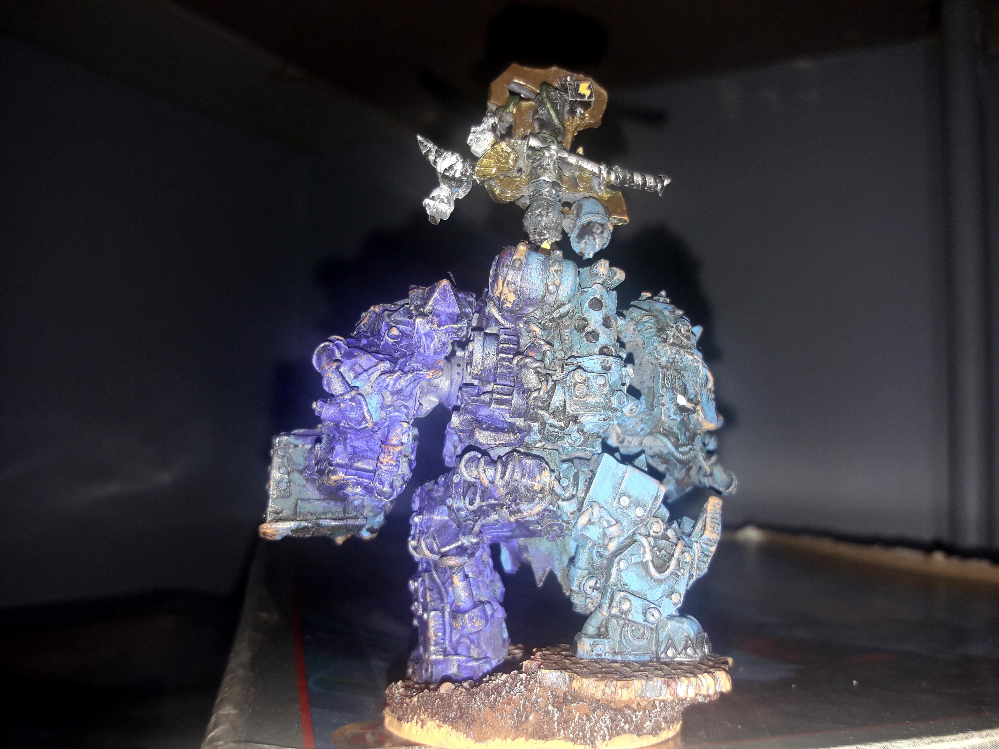 Cyborg, Orks, Warboss, Warhammer 40,000