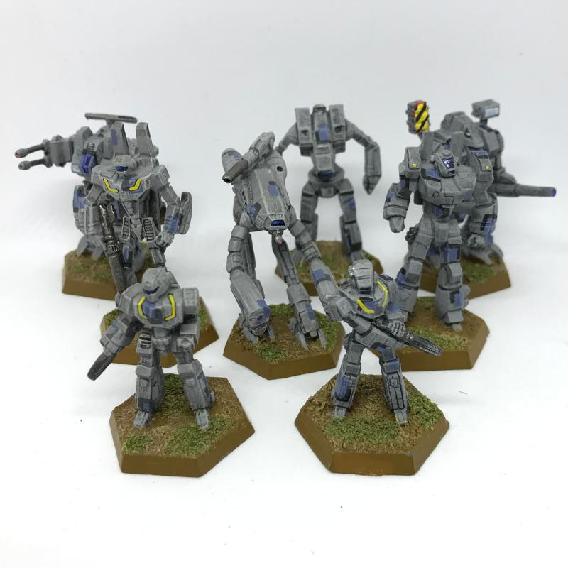 Archers, Battletech, Crusader, Macross, Marauders, Phoenix Hawk, Rifleman, Stinger, Unseen, Warhammer Fantasy, Wasp