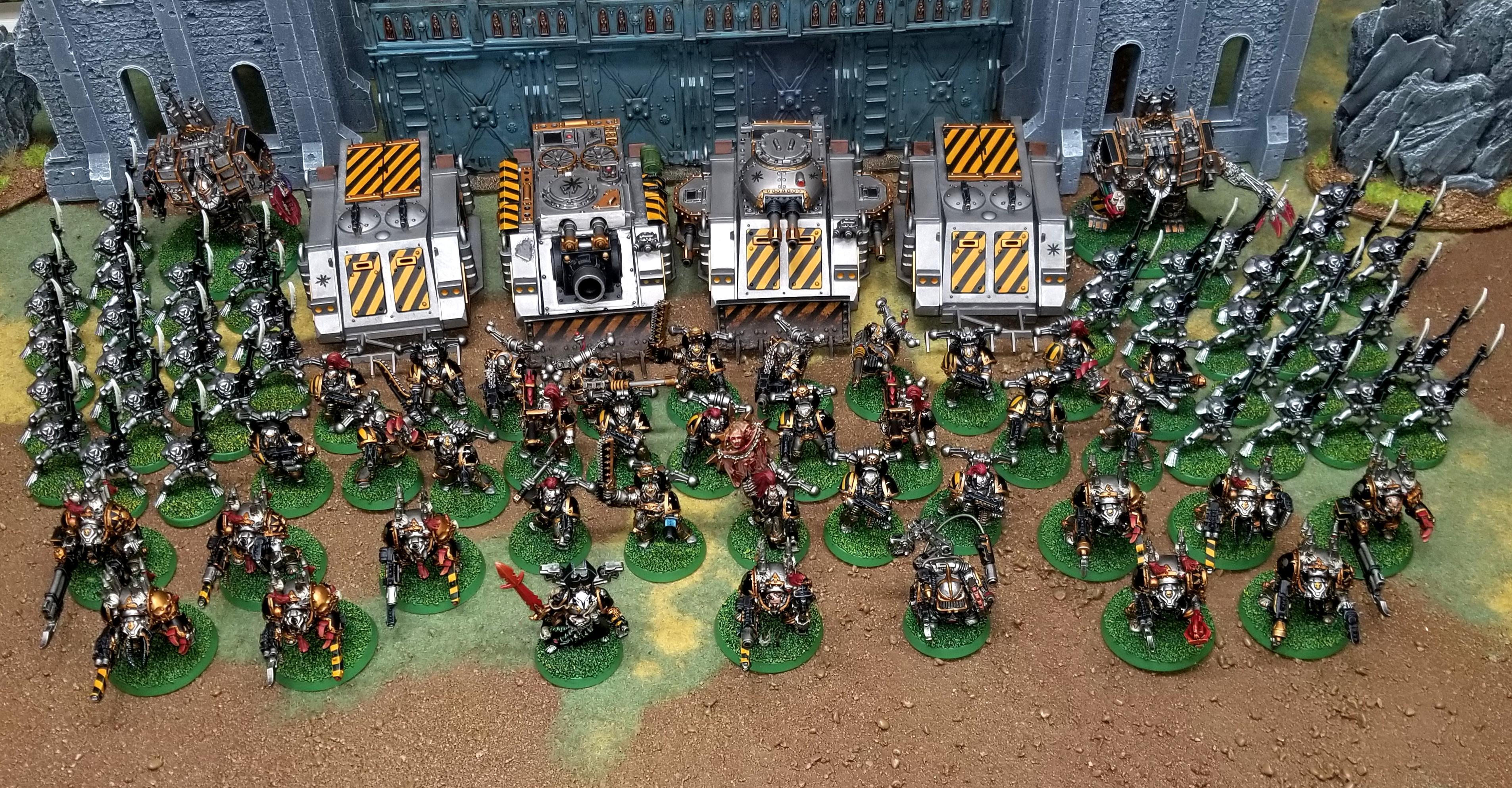 2e, Chaos, Chaos Space Marines, Goblin Green, Iron Warriors, Old School