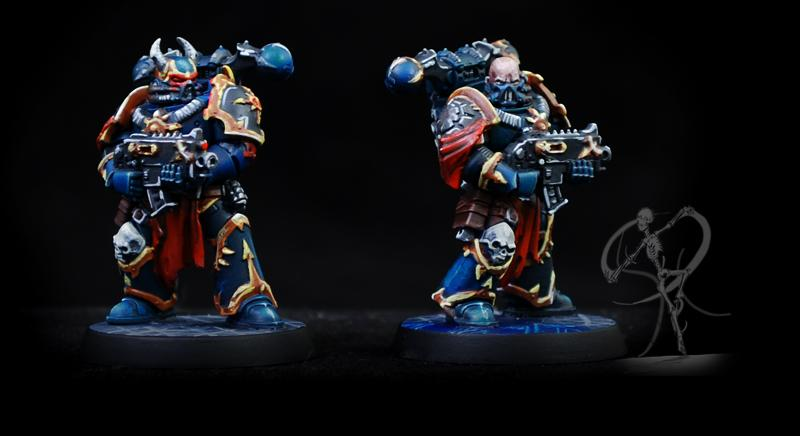 Black Legion, Blackstone Fortress, Chaos, Chaos Space Marines, Non-Metallic Metal, Object Source Lighting, Science-fiction, Sons Of Horus, Warhammer 40,000