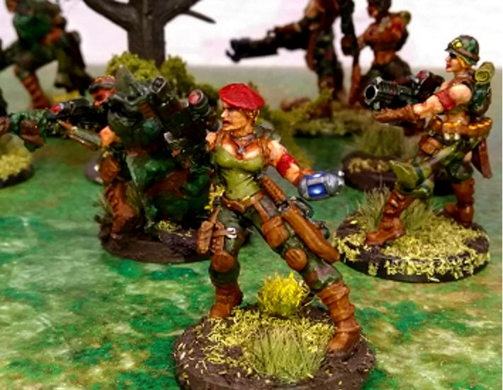 Catachan, Female, Girl, Imperial Guard, Imperium Of Man, Melta Bomb