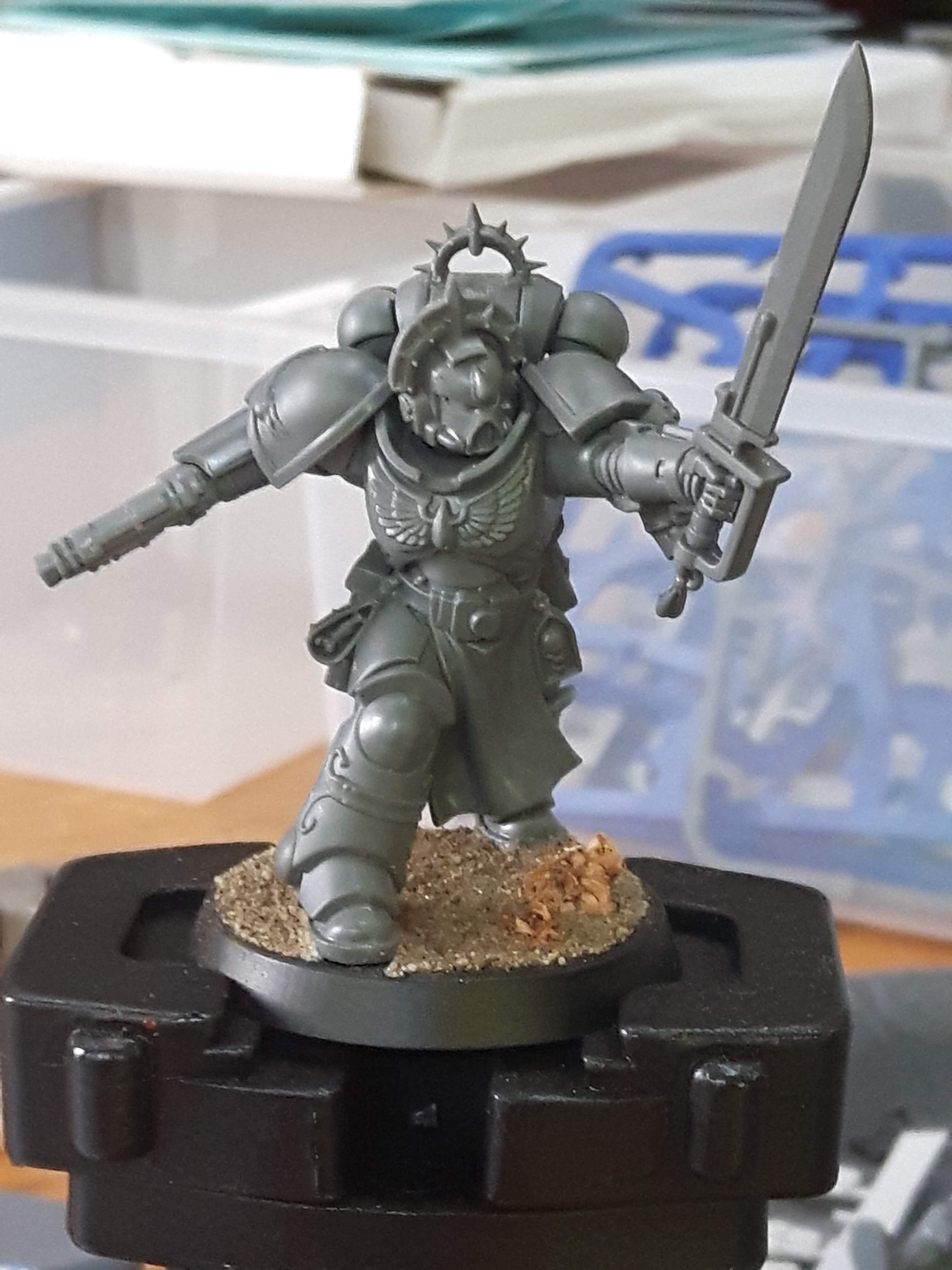 Blood Angels, Custom Chapter, Kitbash, Lieutenant, Sable Brotherhood, Space Marines, Warhammer 40,000