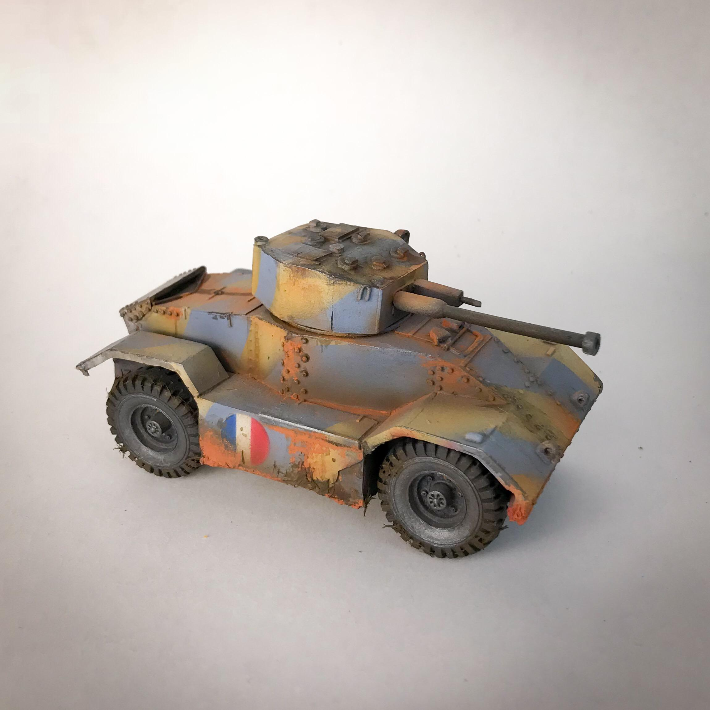 Airbrushed, Bolt Action, Flocking, French, Weathered, World War 2