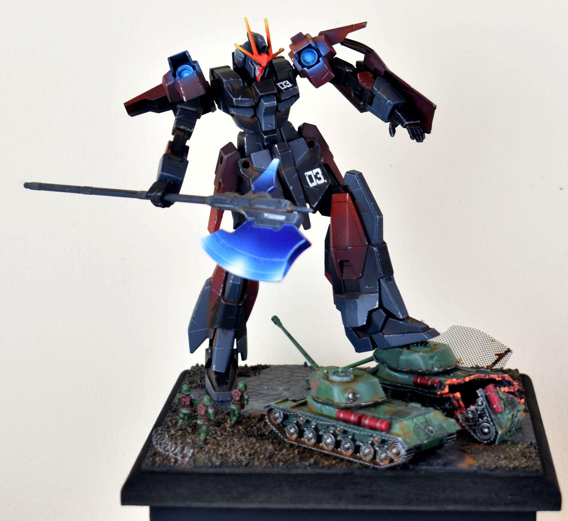 Diorama, Gundam, Object Source Lighting, Robotech