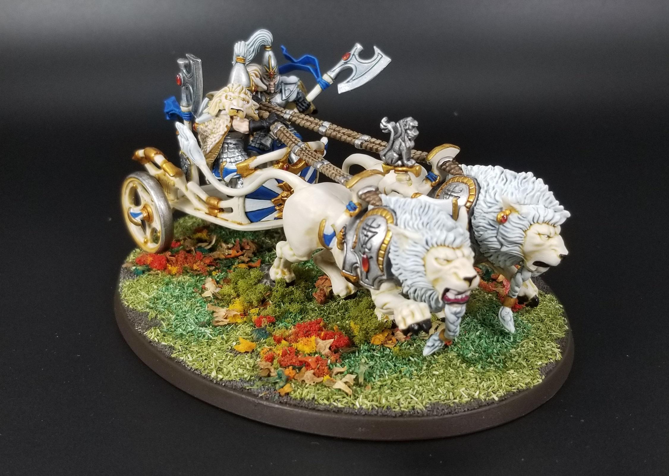 Aelves, Chariot, Elves, White Lions