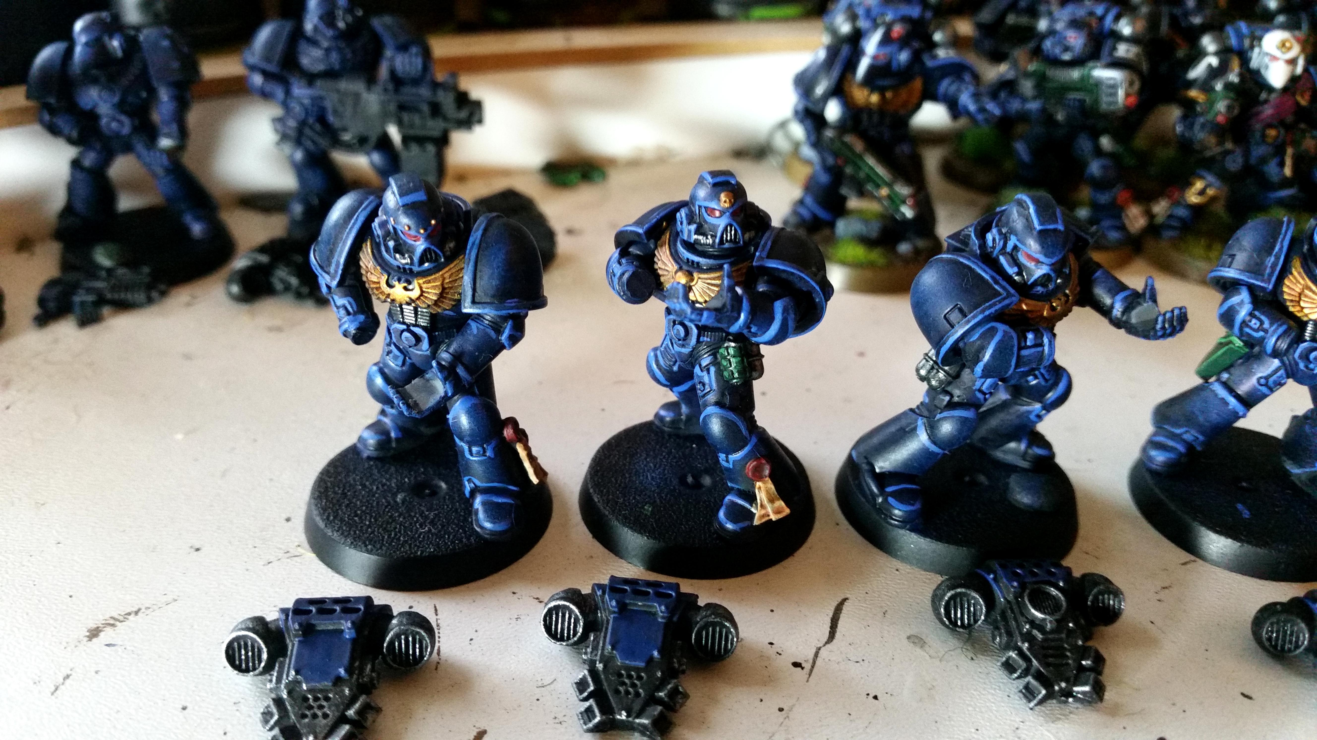 Space Marines, Tactical Squad, Ultramarines, Work In Progress