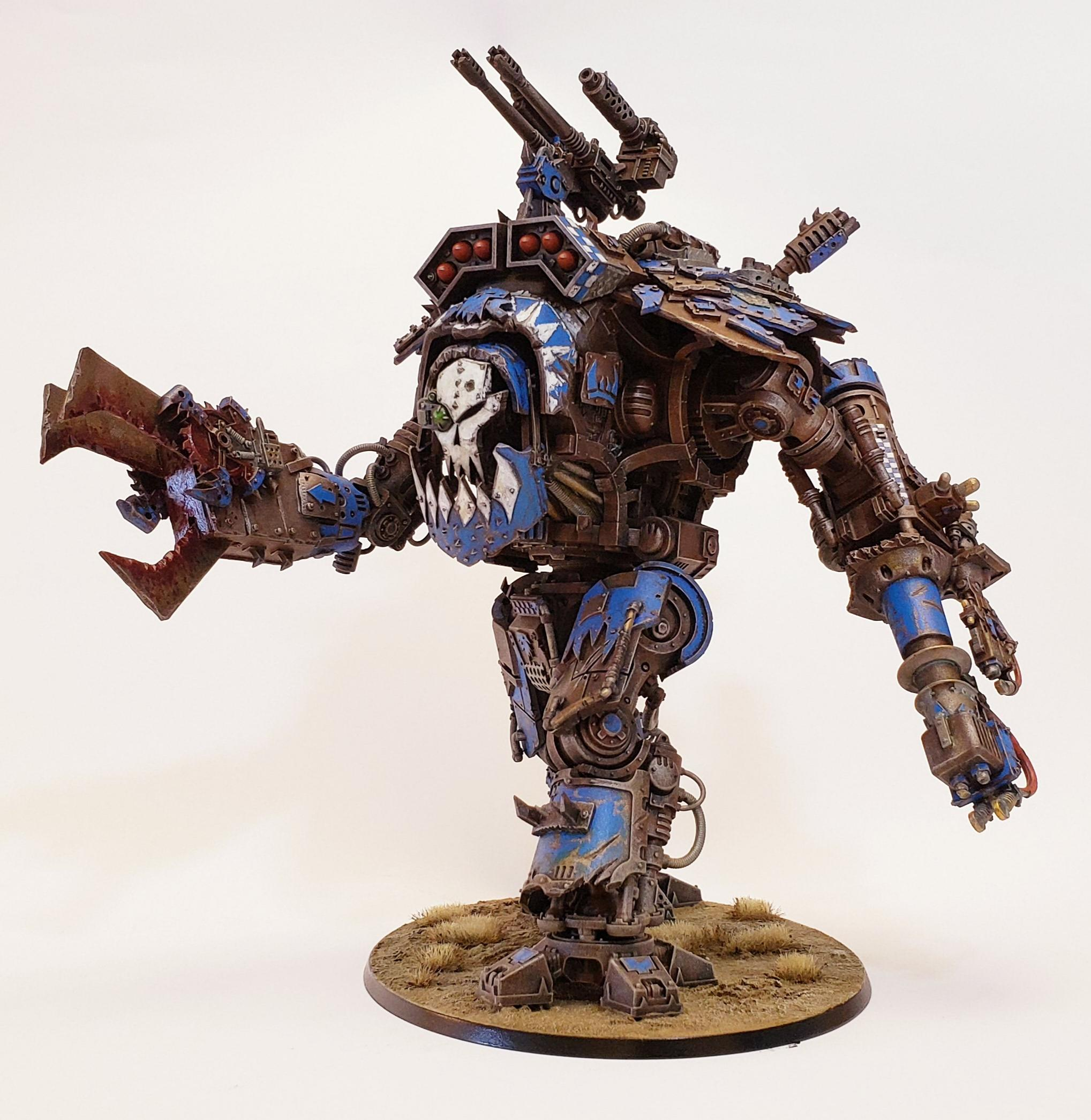 Imperial Knight, Knight Abuse, Looted, Morkanaut, Orks