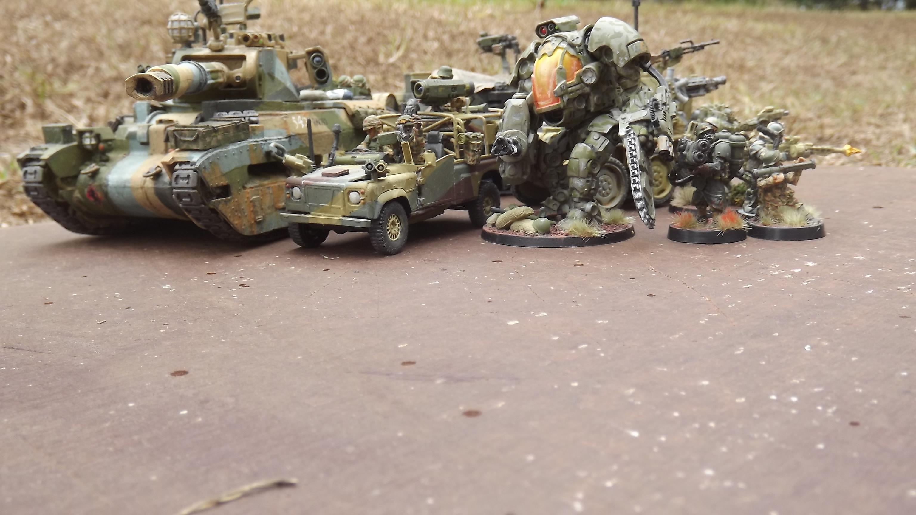 Assault Mech, Grenadier, Heavy Flamer, Landrover, Mantic Strider, Matilda, Mech, Recon, Rocket Launcher, Super-heavy, Tank, Victoria Miniatures