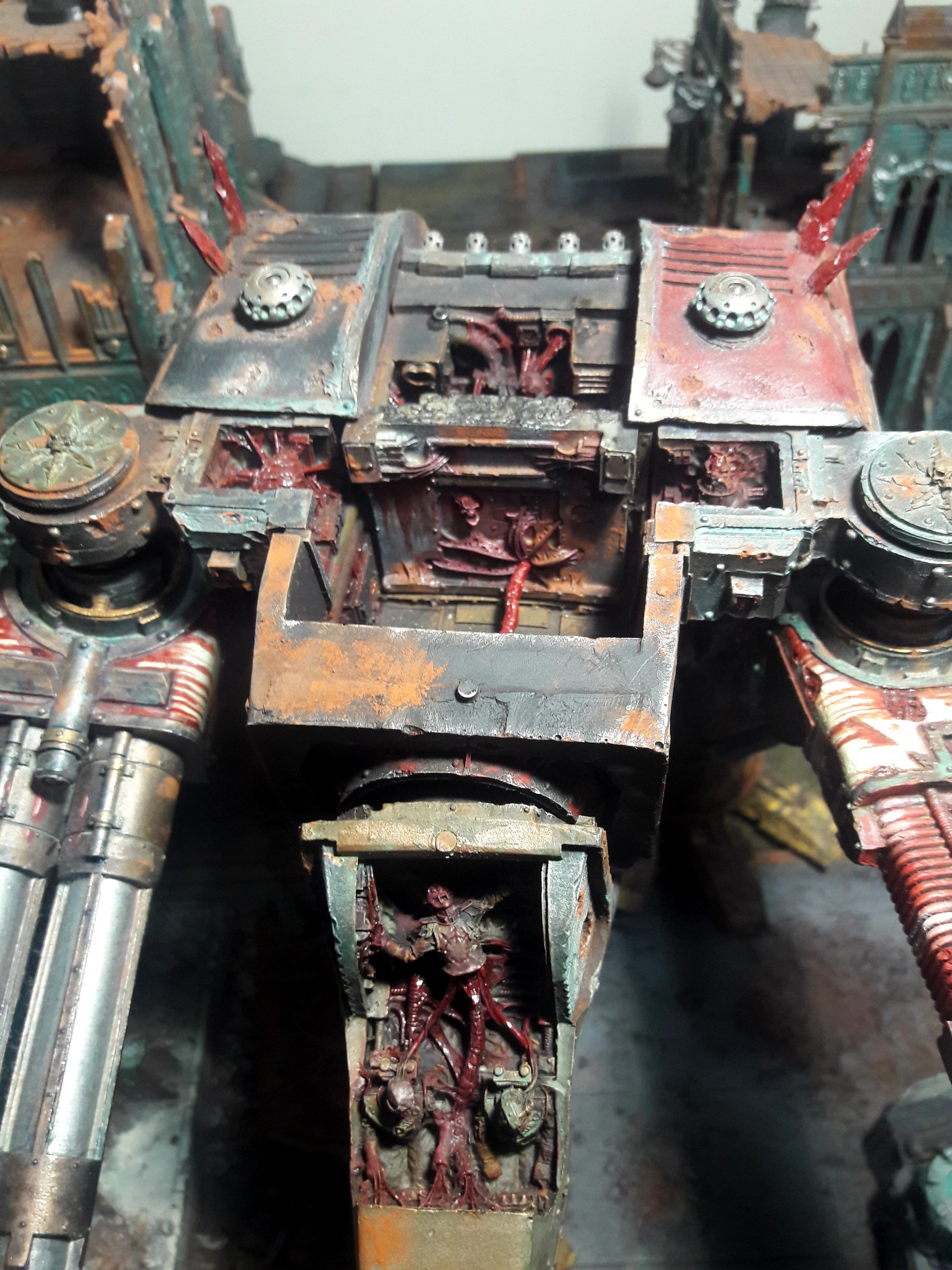 Chaos, Chaos Warhound Titan Nurgle, Legio Mortis, Warhammer 40,000, Warhound