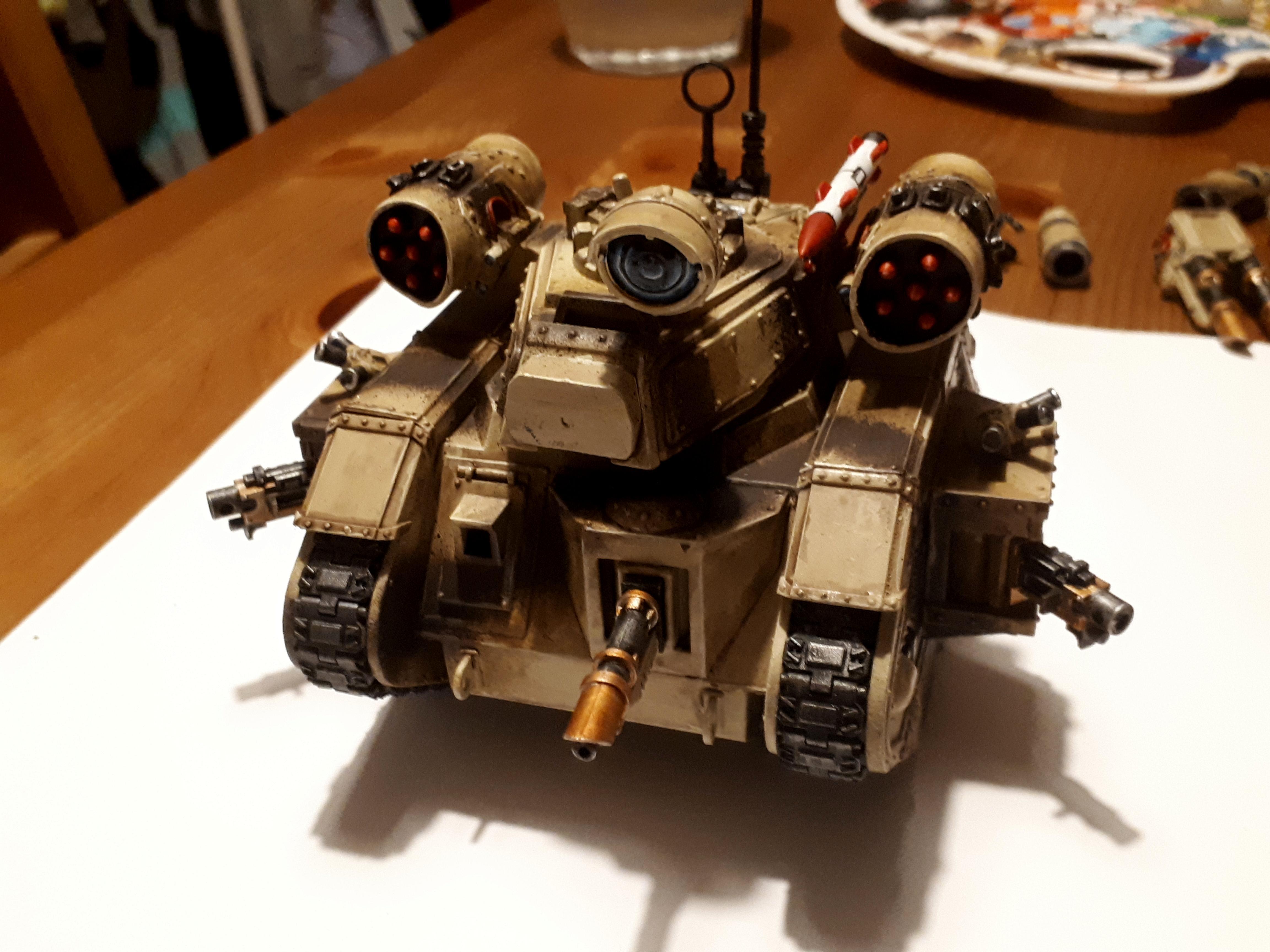 Battle Tank, Conversion, Desert, Leman Russ, Missile Launcher, Missile Tank, Super-heavy, Tallarn Desert Raiders, Tank