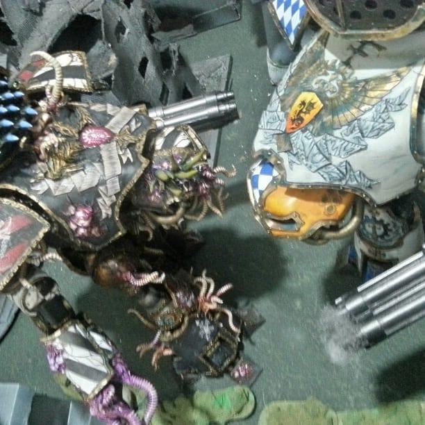 Chaos Titan, Imperial Titan, Reaver, Rever Titans Of Legio Mortis Nurgle, Titan, Titan Close Combat