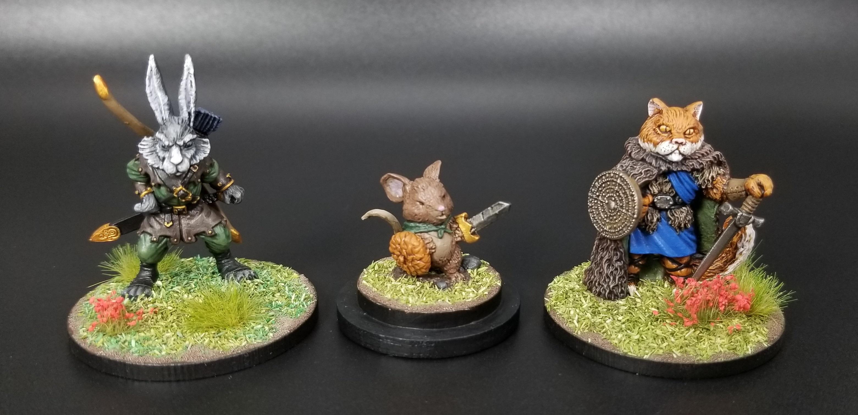 Anthropomorphic, Burrows & Badgers, Cat, Mouse, Rabbit
