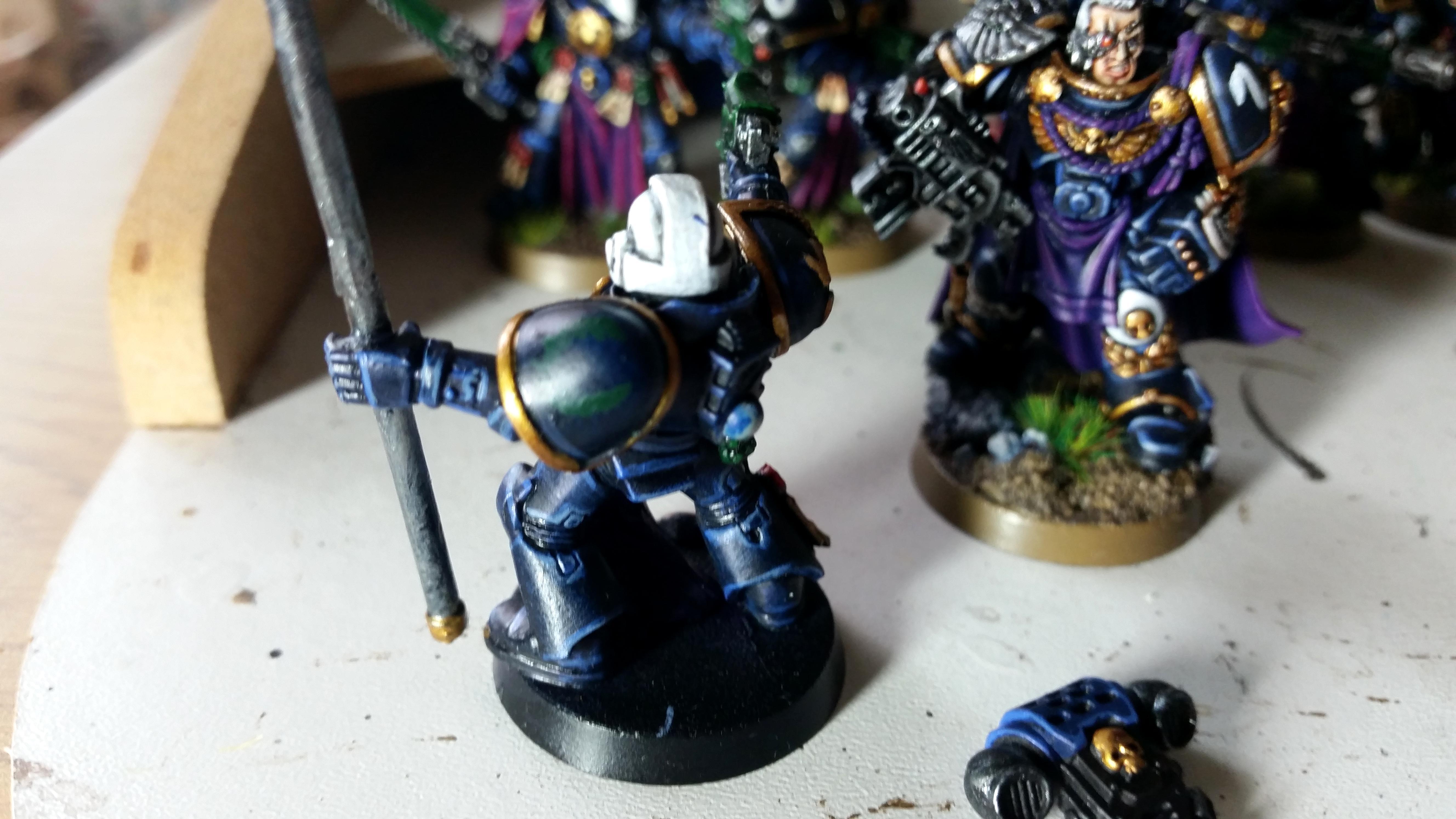 Ancient, Space Marines, Standard Bearer, Ultramarines