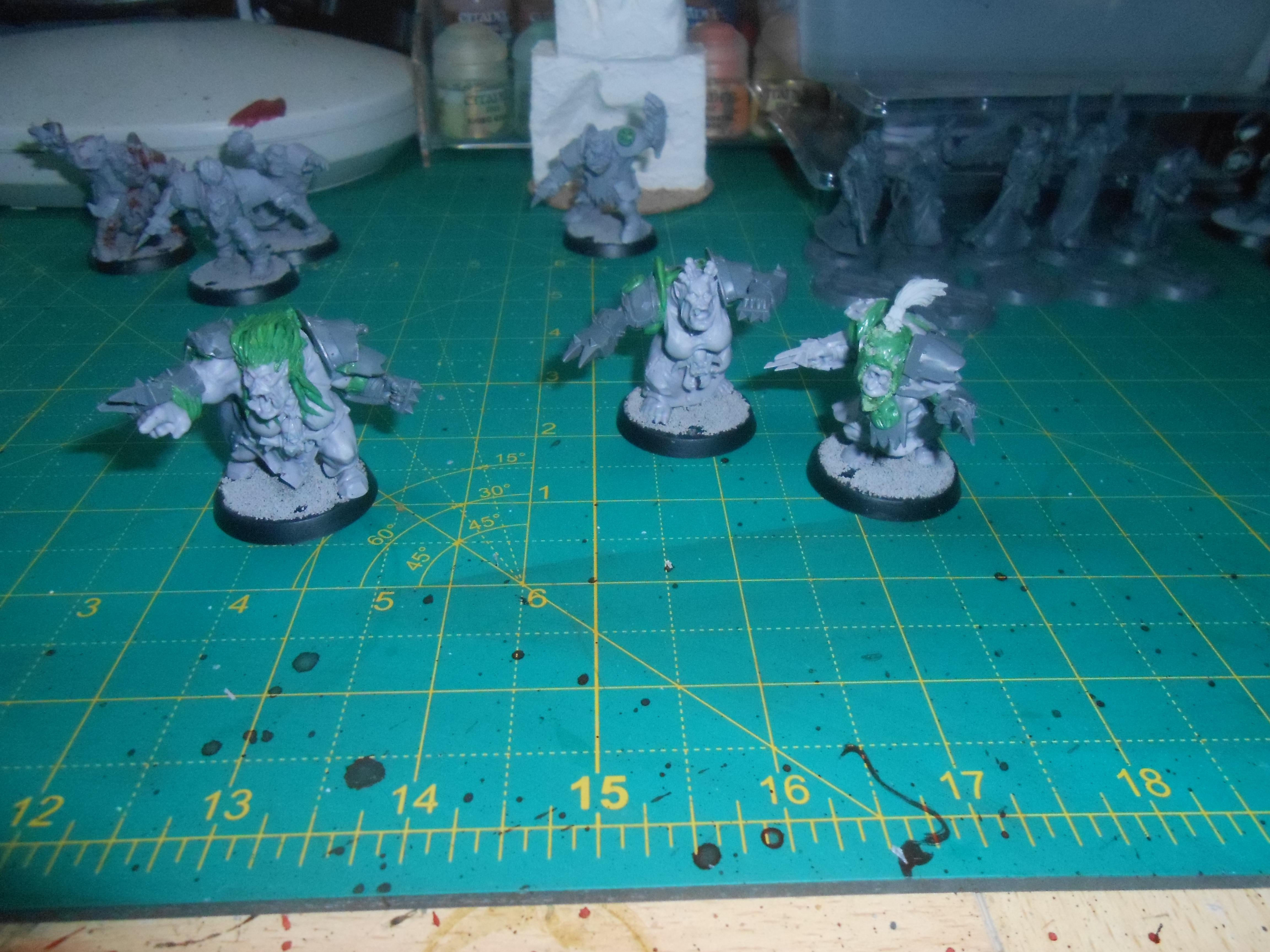 Blood Bowl, Gouged Eye, Orcland Raiders, Orcs, Women, Work In Progress