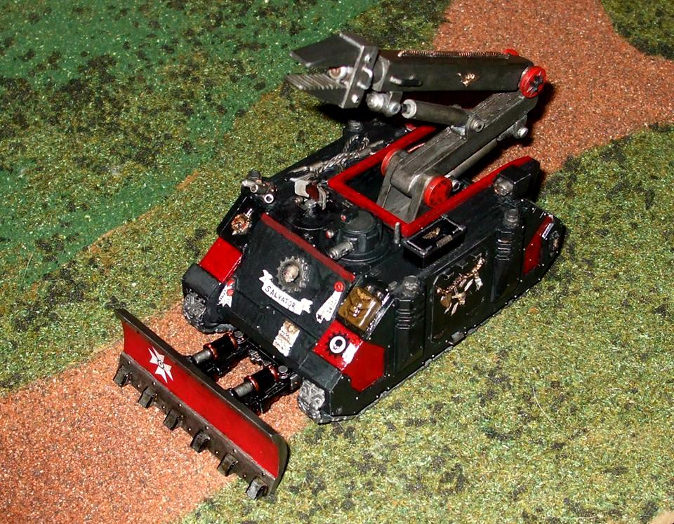 Black Templars, Converted Rhino, Space Marines, Techmarine, Warhammer 40,000