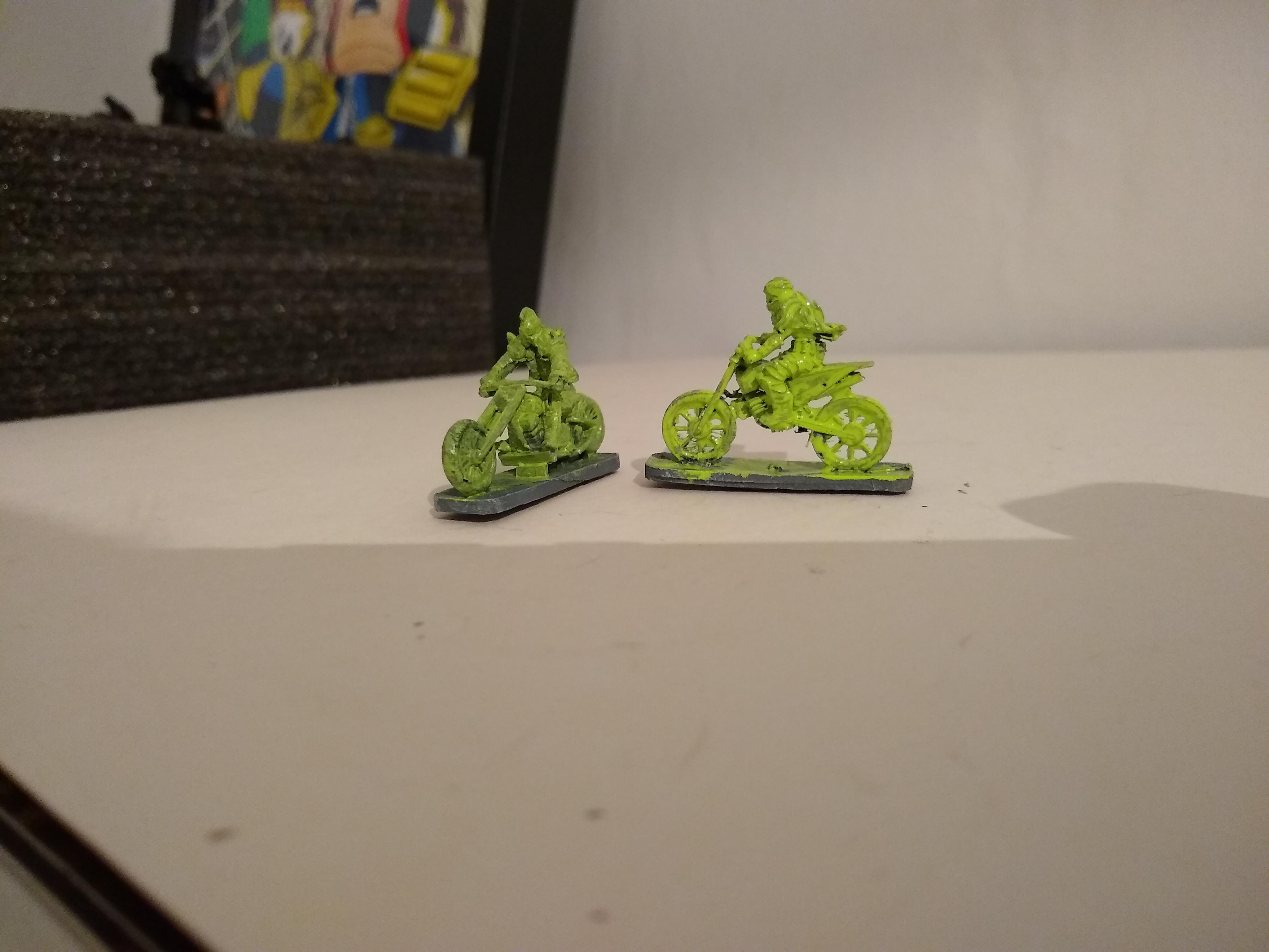 Sticky green ecto bikes