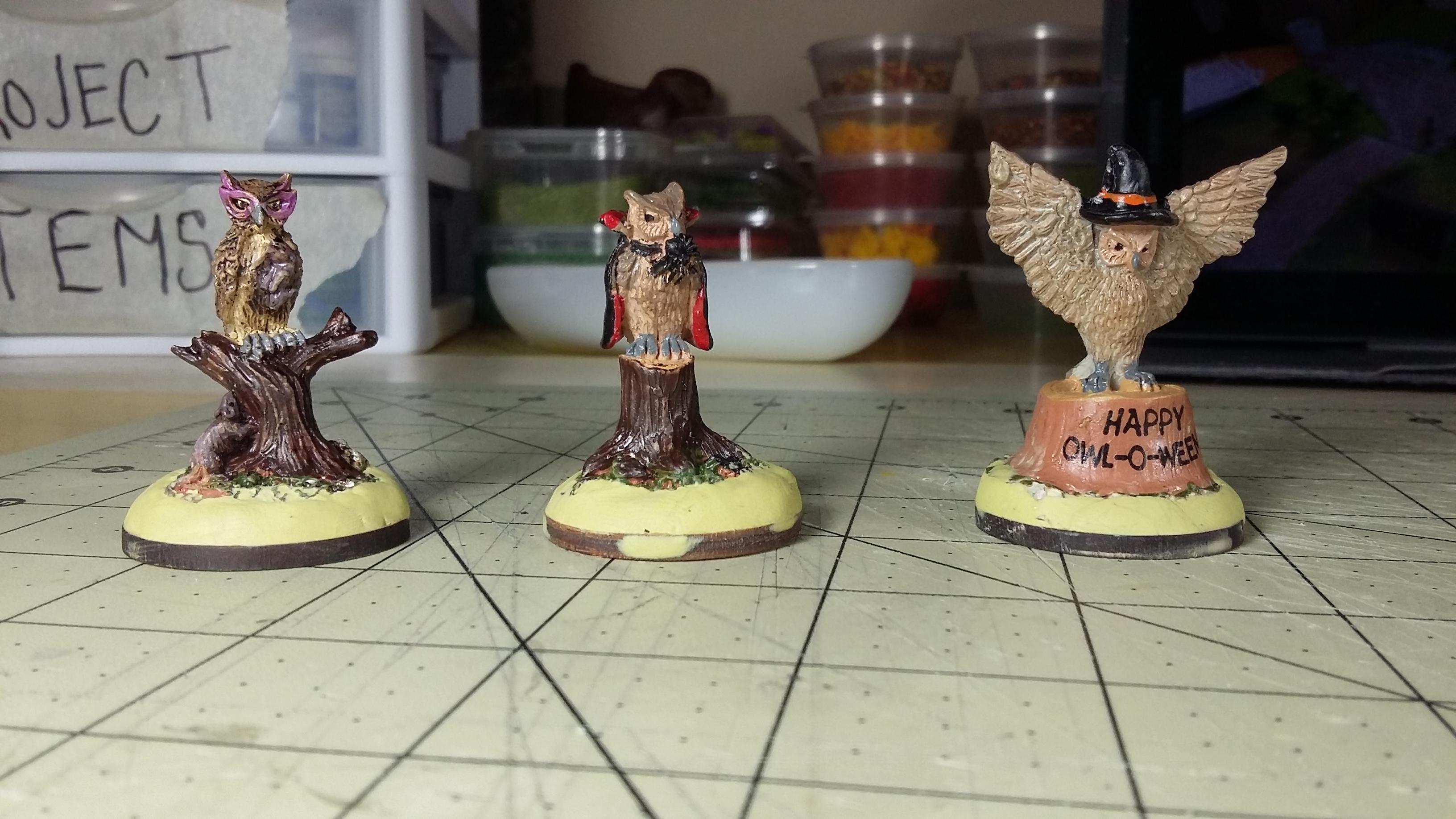 Anthropomorphic, Burrows And Badgers, Owl, Work In Progress