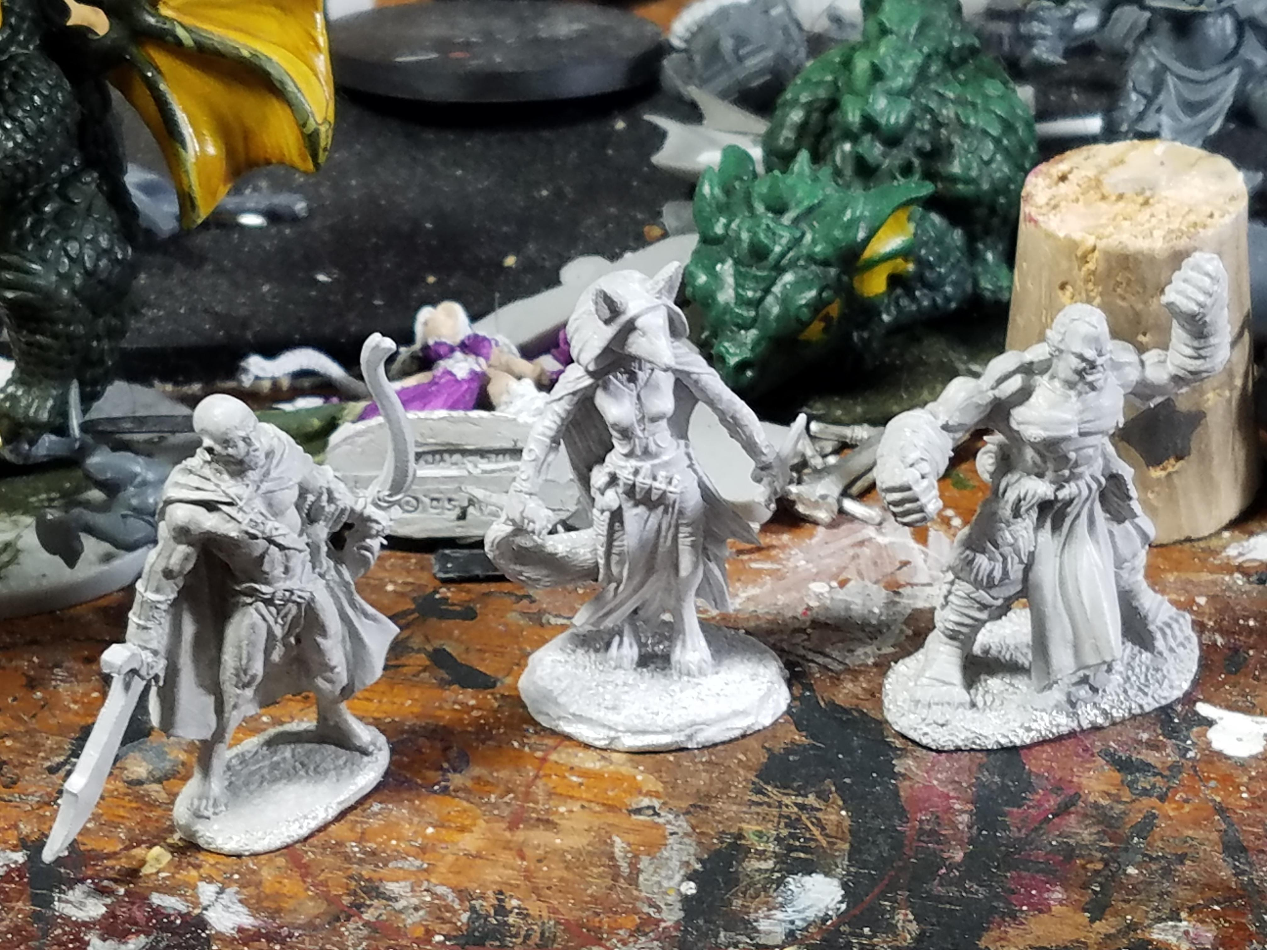 Adventurers, Bowman, Dark Sword Miniatures, Fox Person, Human, Kitsune, Monk, Orks, Rangers, Reaper Miniatures, Rogue