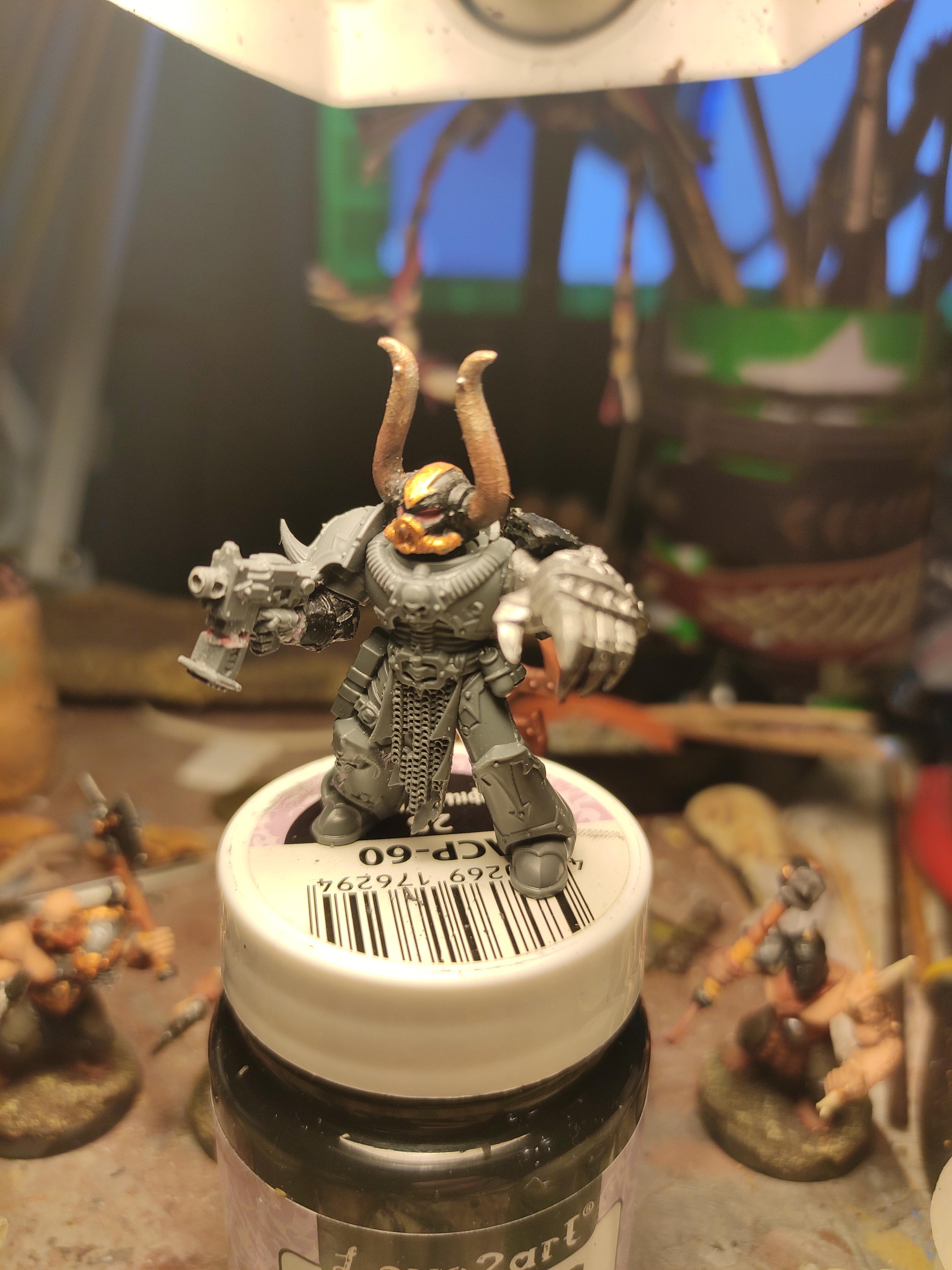 Blurred Photo, Boltpistol, Chaos, Chaos Space Marines, Conversion, Heresy, Heretic Astartes, Kitbash, Power Fist, Regiment, Shadowspear, Traitor Legions, Warhammer 40,000, Work In Progress