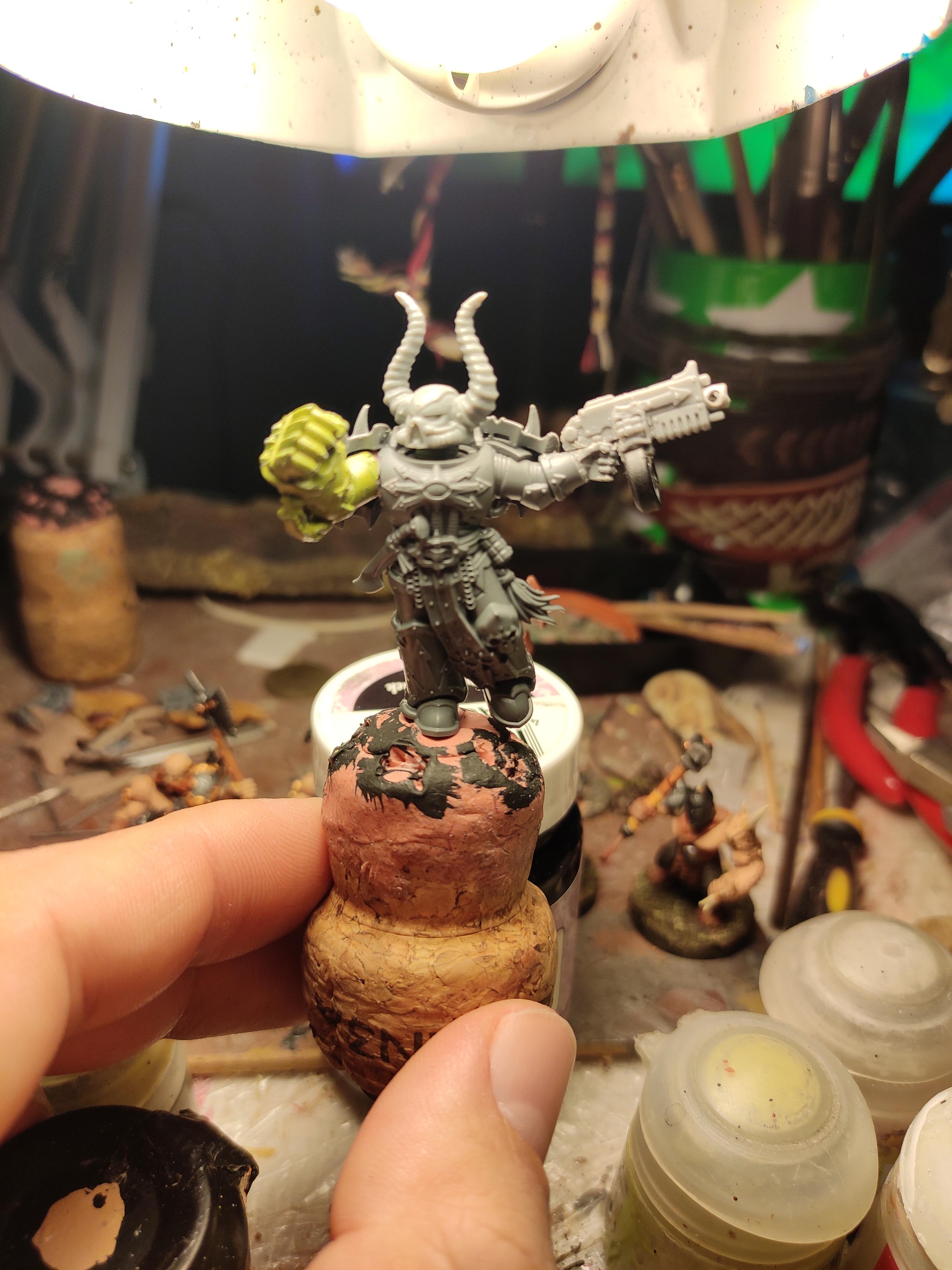 Blurred Photo, Bolter, Chaos, Chaos Space Marines, Conversion, Heresy, Heretic Astartes, Kitbash, Power Fist, Regiment, Shadowspear, Traitor Legions, Warhammer 40,000, Work In Progress