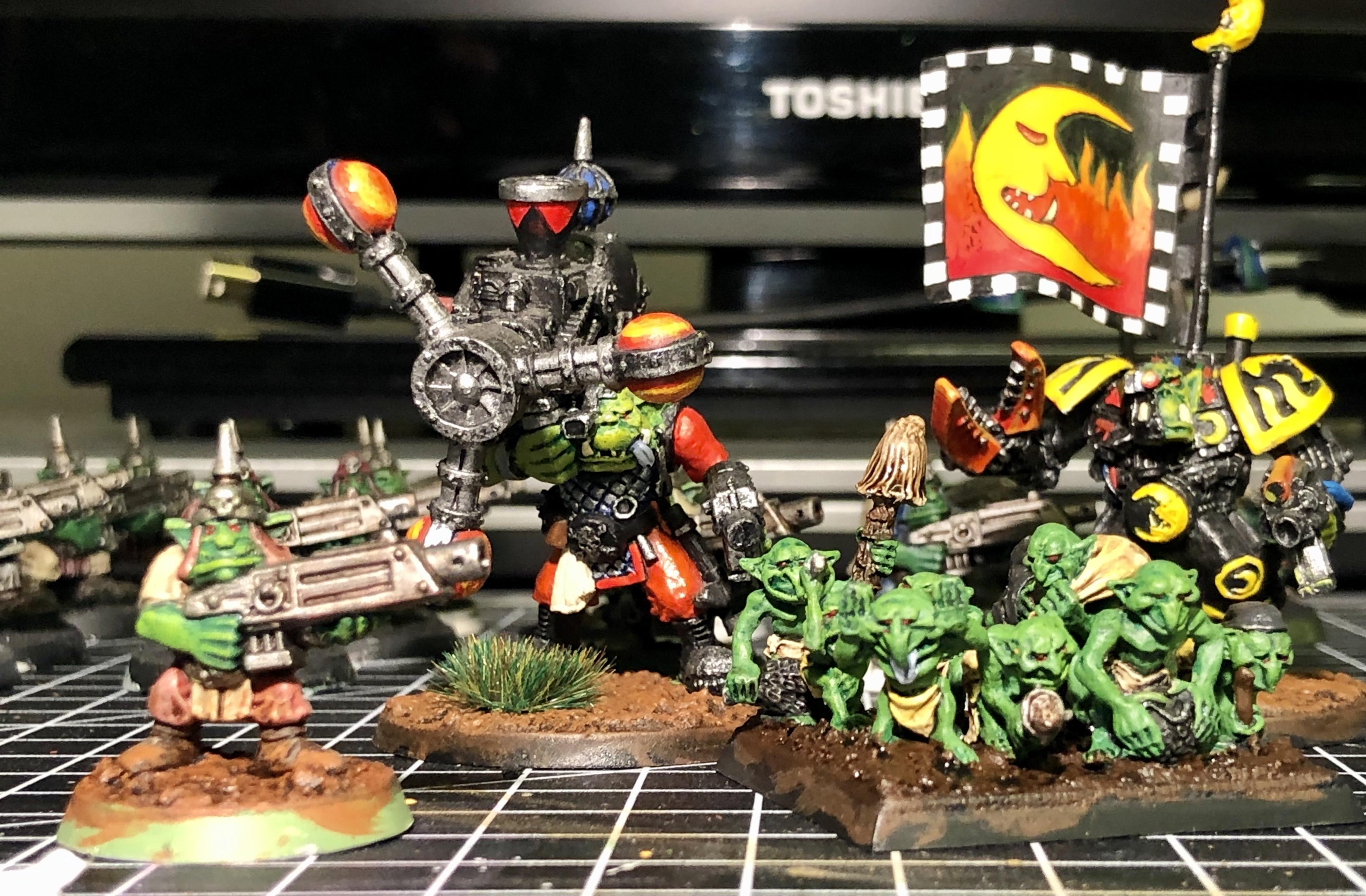 2nd Edition, Bik Mek, Gretchin, Mega Armor, Nob, Orks, Shokk Attack Gun, Snotlings, Warhammer 40,000