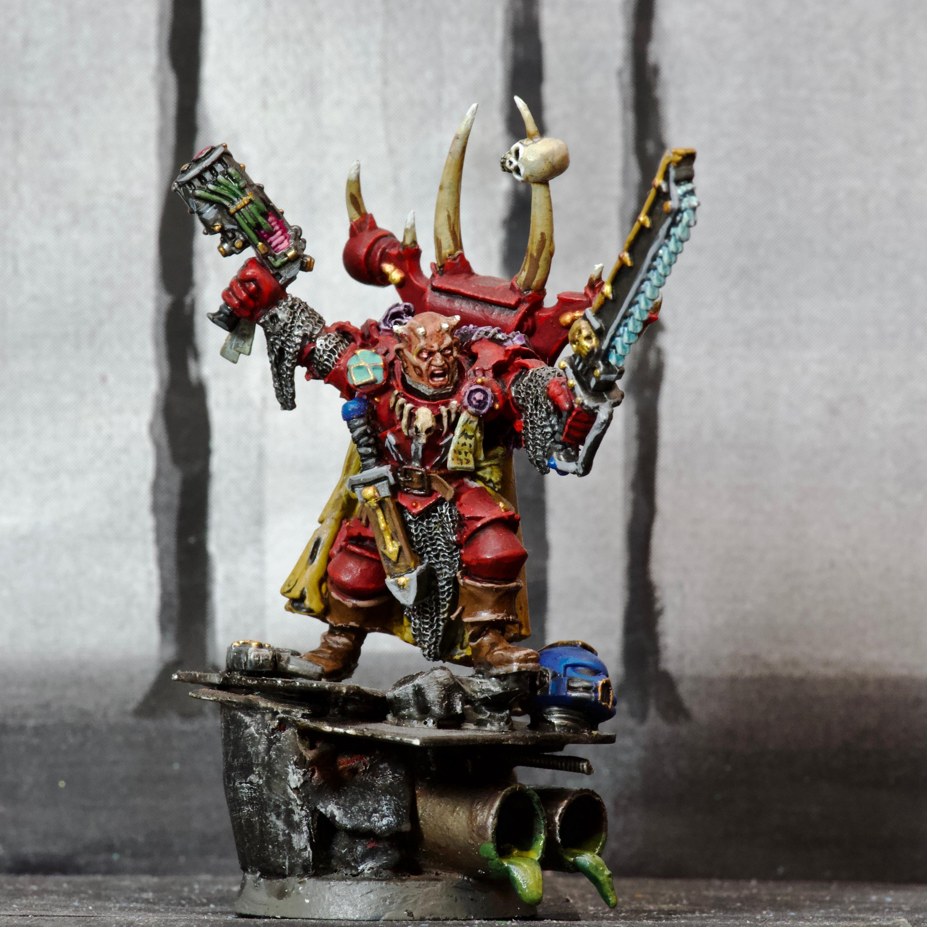Aspiring Champion, Awesome Photos, By Andrey Mishuta, Chainsword, Chaos, Chaos Space Marines, Conversion, Finecast, M.a.k., Plasma Pistol, Possessed, Sewer, Warhammer 40,000, Word Bearers