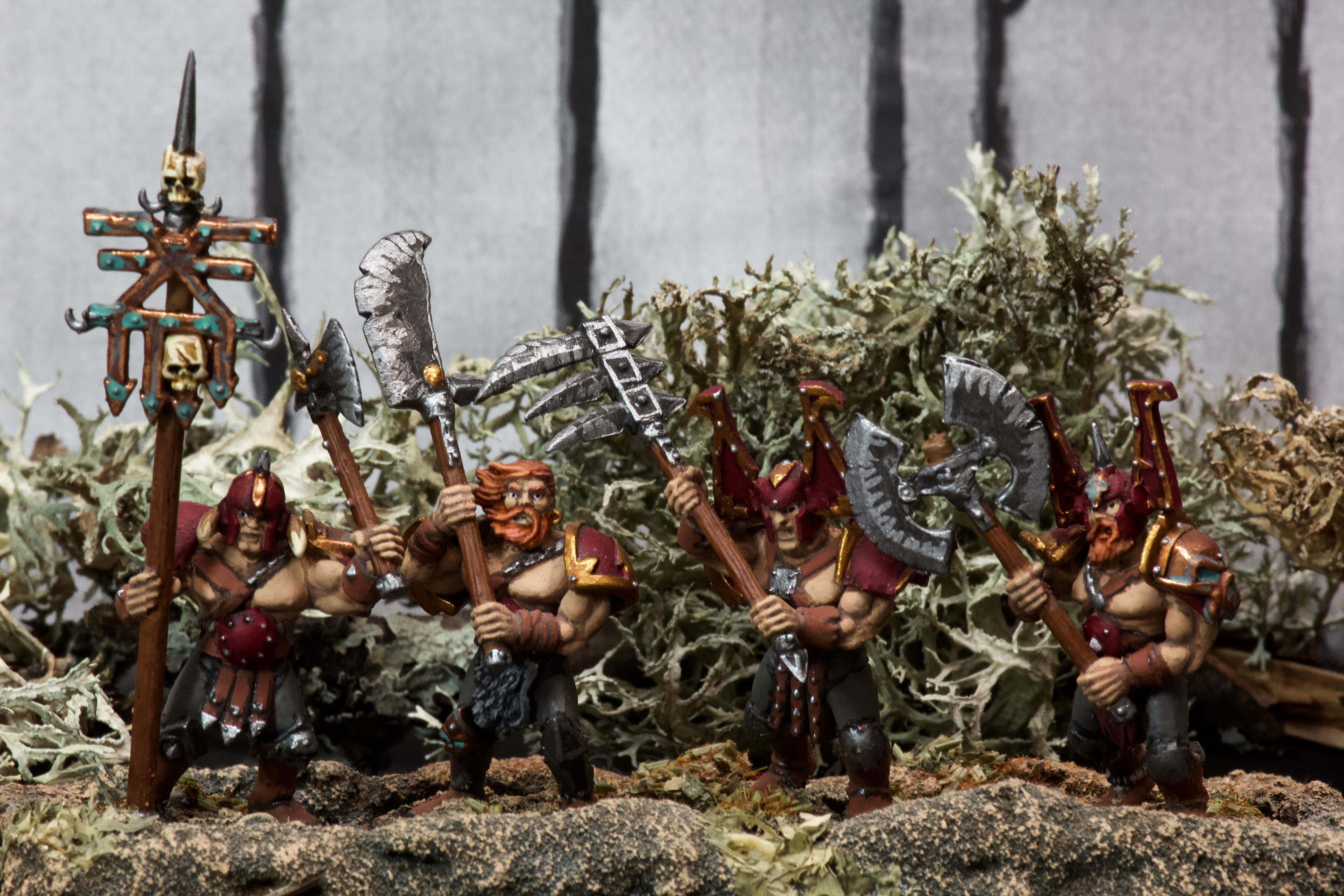Awesome Photos, Axe, Banner, Beard, Berserkers, Blood For The Blood God, By Andrey Mishuta, Chaos, Conversion, Glaive, Great Weapon, Khorne, M.a.k., Marauders, Regiment, Skulls For Skull Throne, Slaves To Darkness, War Scythe, Warhammer Fantasy
