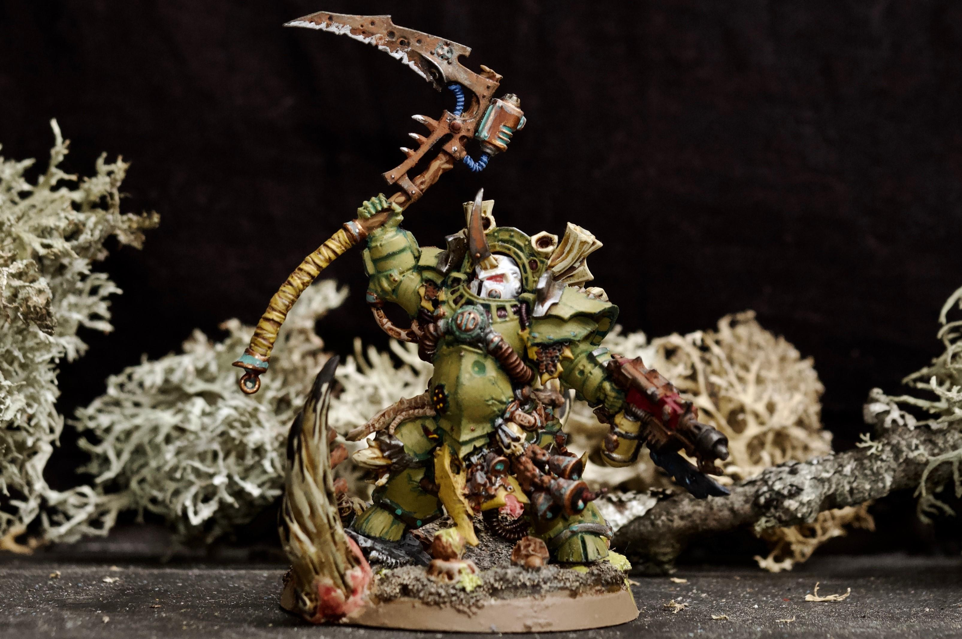 Awesome Photos, Blight, By Andrey Mishuta, Chaos, Chaos Space Marines, Combiweapon, Conversion, Death Guard, Decay, Destroyer Hive, Heretic Astartes, M.a.k., Nurgle, Plague Marines, Scythe, Typhus, Warhammer 40,000