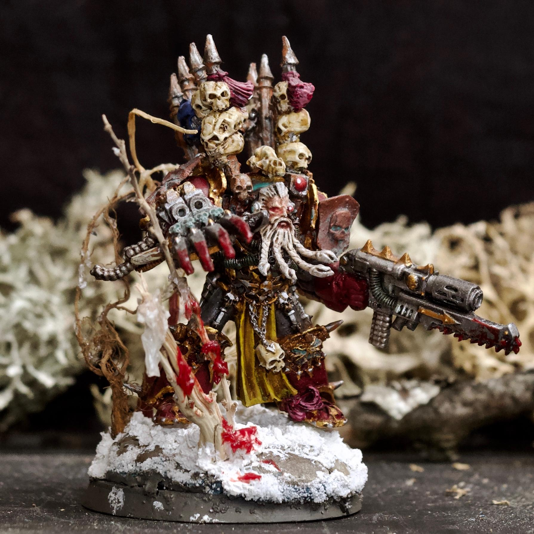Abaddon The Despoiler, Awesome Photos, Beard, Berserkers, Berzerk, Blood For The Blood God, By Andrey Mishuta, Chaos, Chaos Space Marines, Combiweapon, Conversion, Heretic Astartes, Khorne, Khorne Wolves, Lightning Claw, M.a.k., Out Of Production, Skulls For Skull Throne, Snow, Space Wolves, Terminator Armor, Traitor, Trophy, Warhammer 40,000
