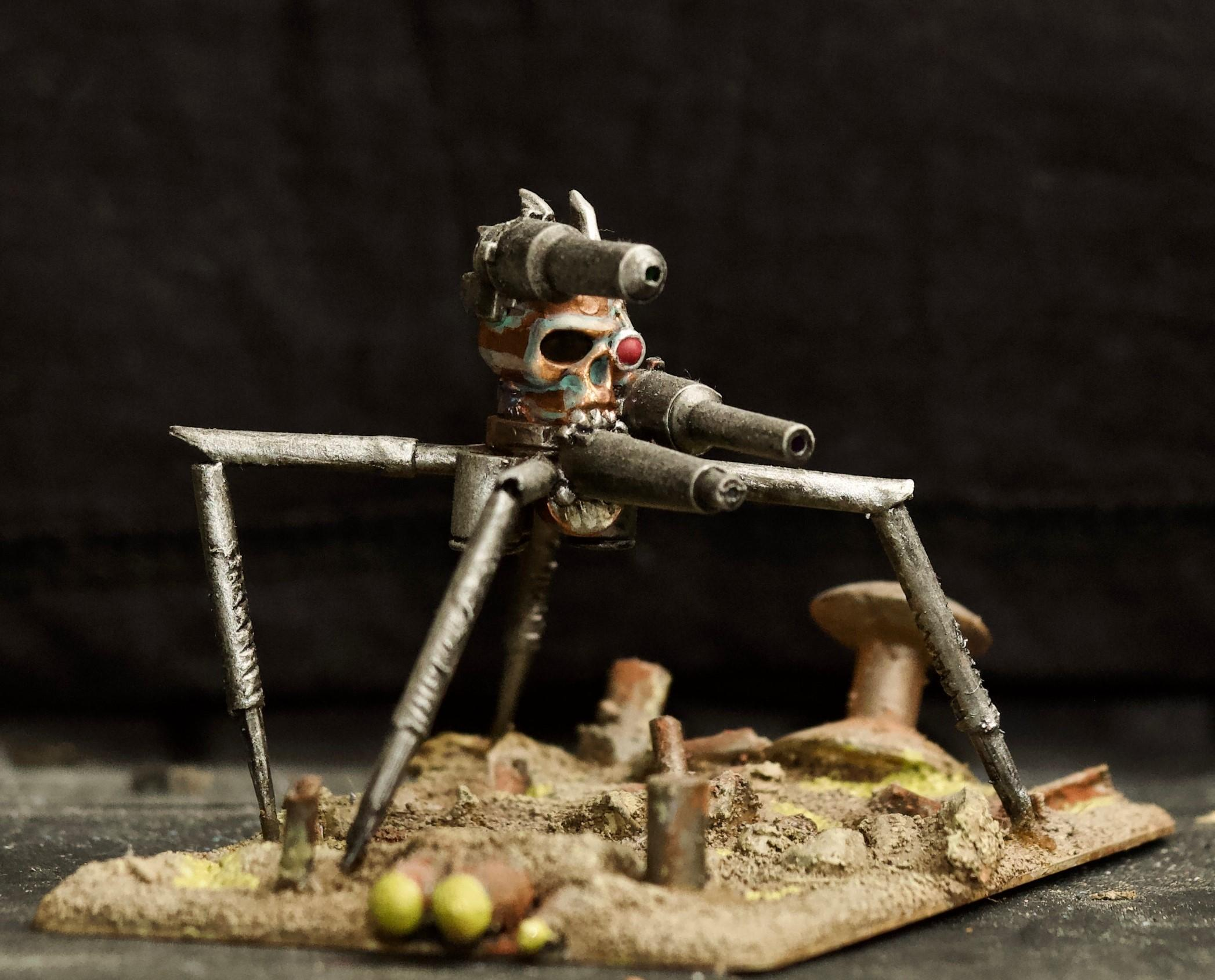 Awesome Photos, By Andrey Mishuta, Chaos, Conversion, Dark Mechanicus, Laser, M.a.k., Scratch Build, Servitors, Skull, Warhammer 40,000