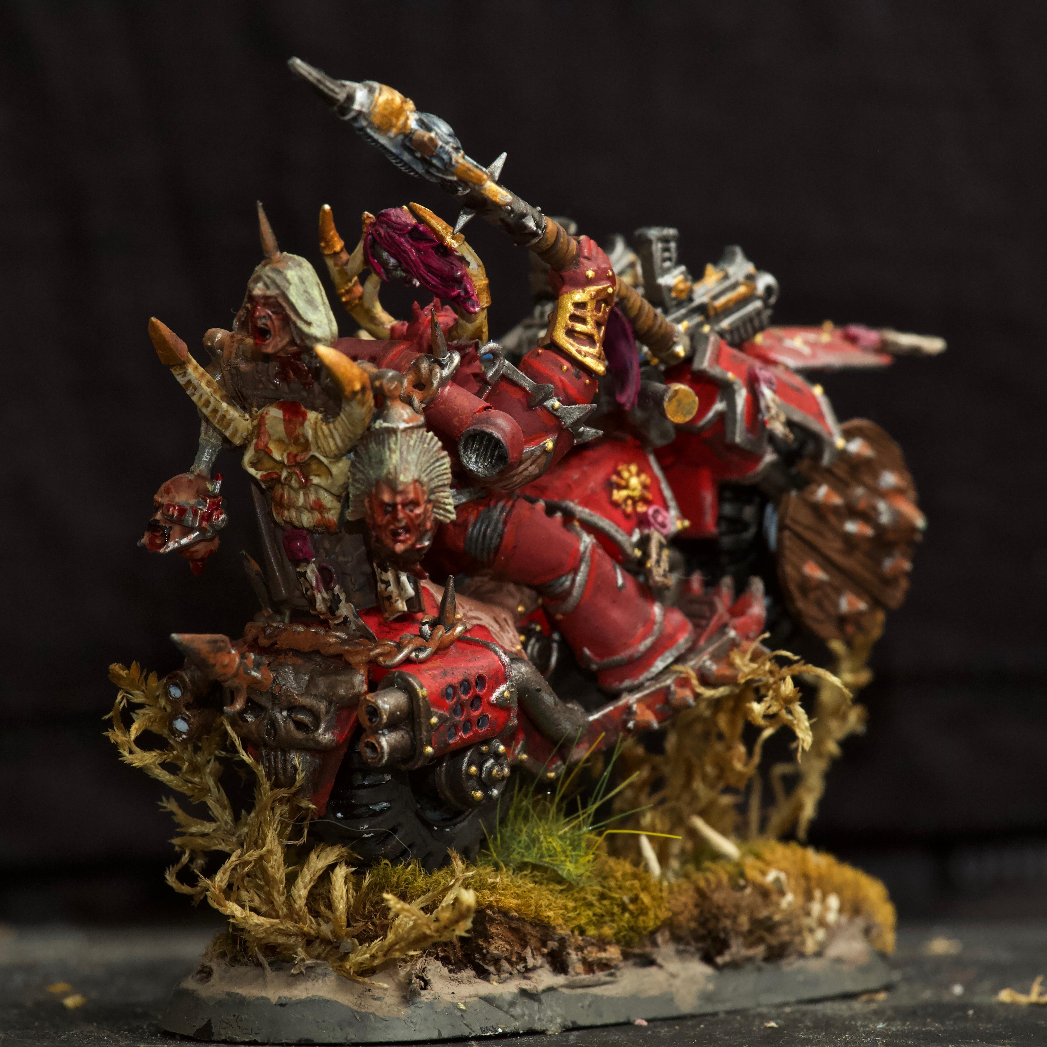 Accursed Crozius, Avatars Of War, Awesome Photos, Banner, Bike, By Andrey Mishuta, Chaos, Chaos Space Marines, Conversion, Dark Apostle, Fast Attack, Heretic Astartes, M.a.k., Trophy, Warhammer 40,000, Word Bearers