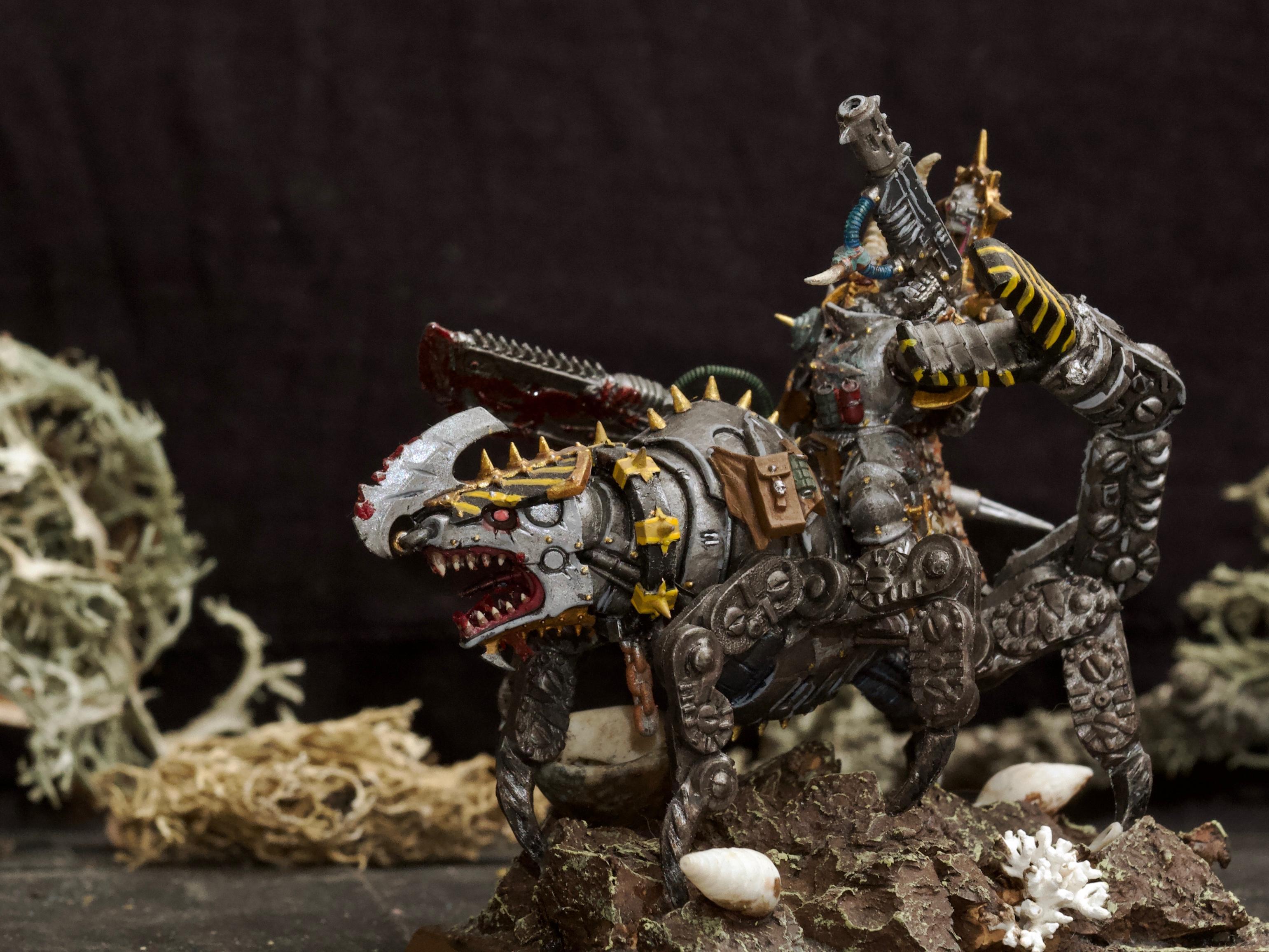 Awesome Photos, By Andrey Mishuta, Chaos, Chaos Space Marines, Conversion, Halberd, Hazard Stripe, Heretic Astartes, Iron Warriors, Juggernaut, Kitbash, M.a.k., Meltagun, Rider, Scratch Build, Warhammer 40,000