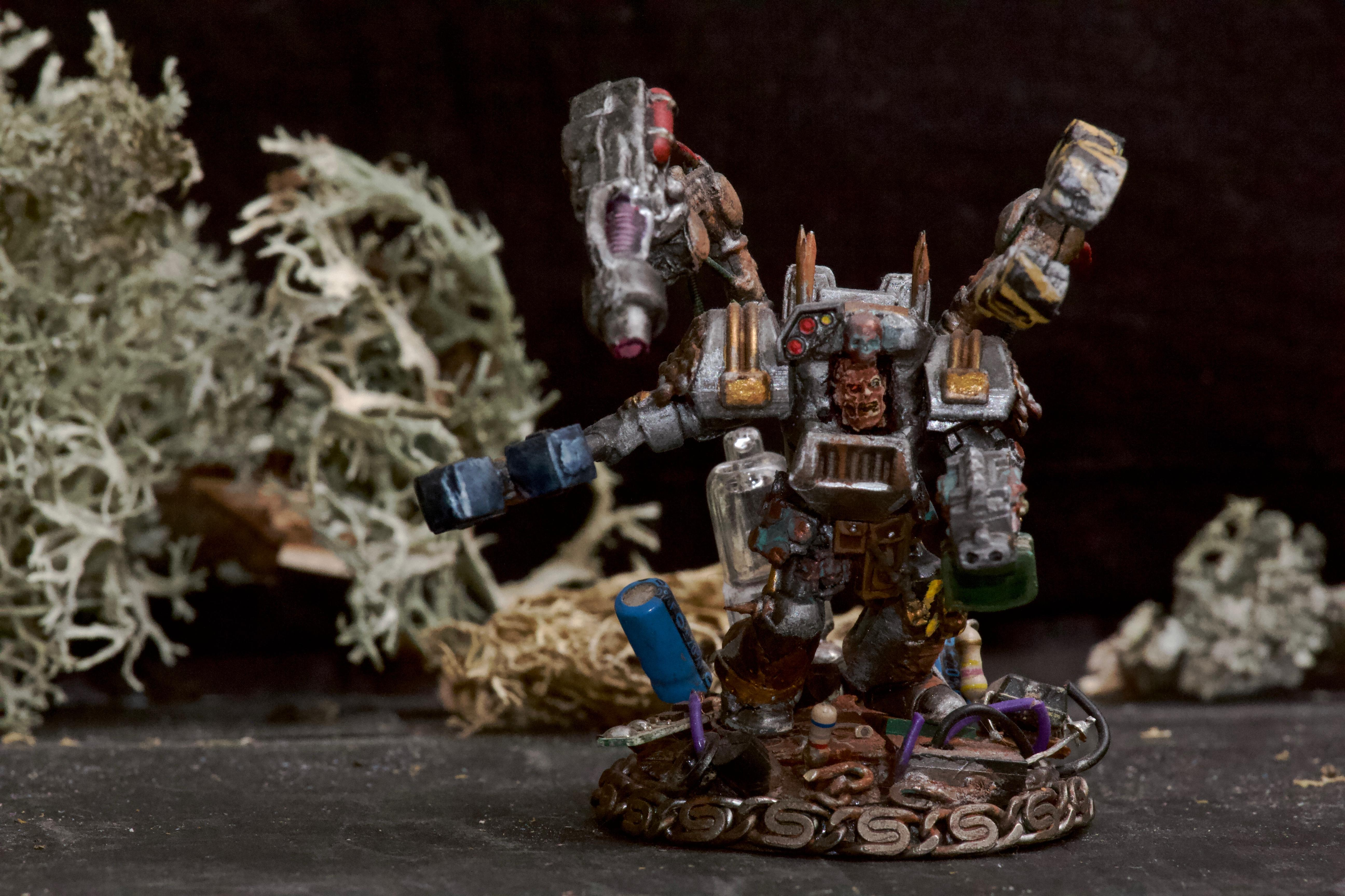 Awesome Photos, By Andrey Mishuta, Chaos, Chaos Space Marines, Conversion, Hazard Stripe, Heretic Astartes, Iron Warriors, Kitbash, M.a.k., Power Fist, Scratch Build, Servo Arm, Stormbolter, Terminator Armor, Thunder Hammer, Warhammer 40,000, Warsmith